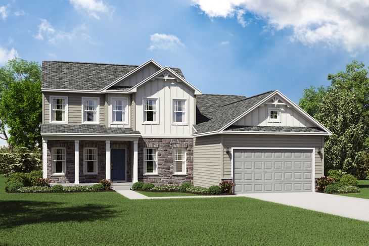 Exterior:Lakeport E with opt. stone