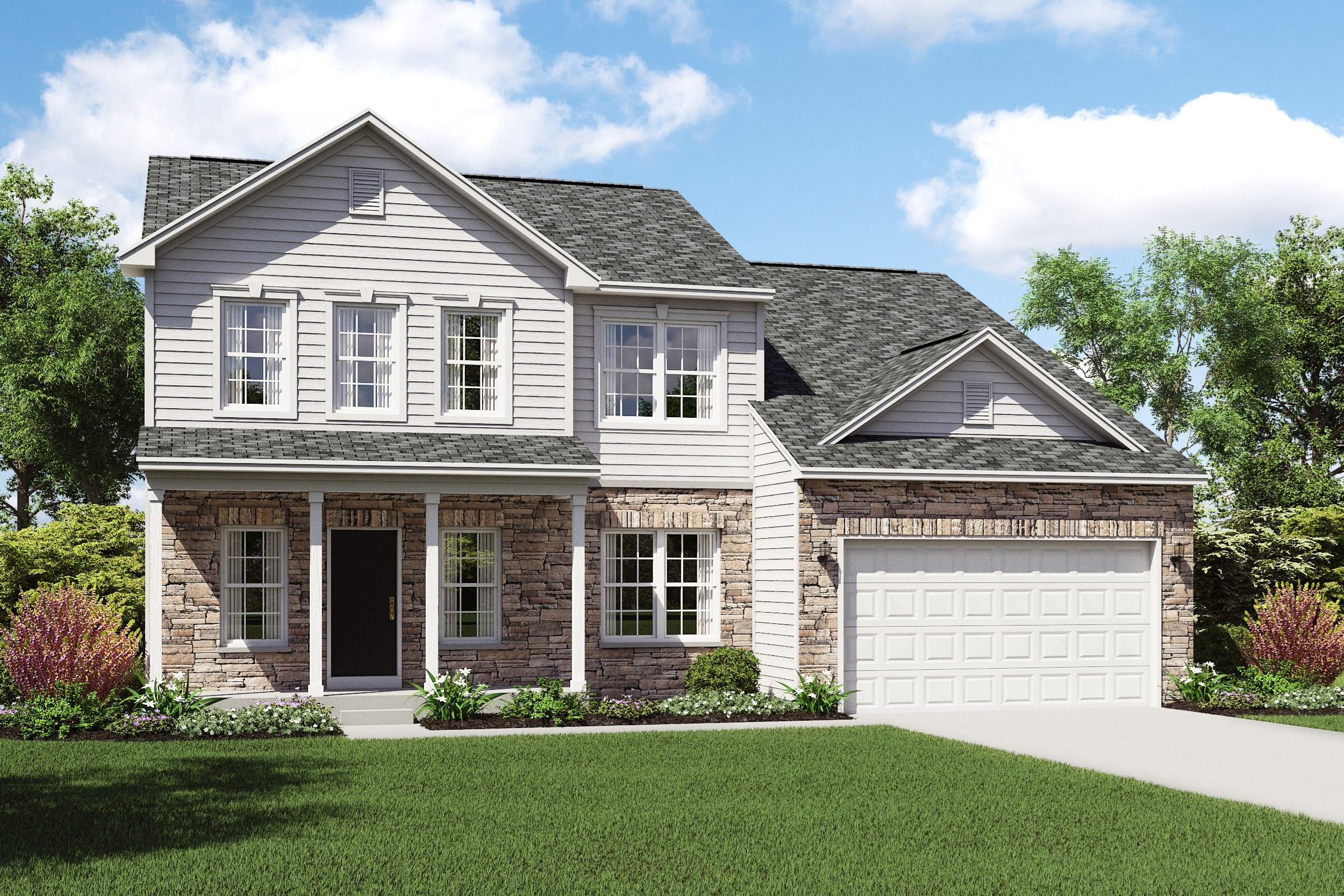Exterior featured in the Henderson By K. Hovnanian® Homes in Cleveland, OH