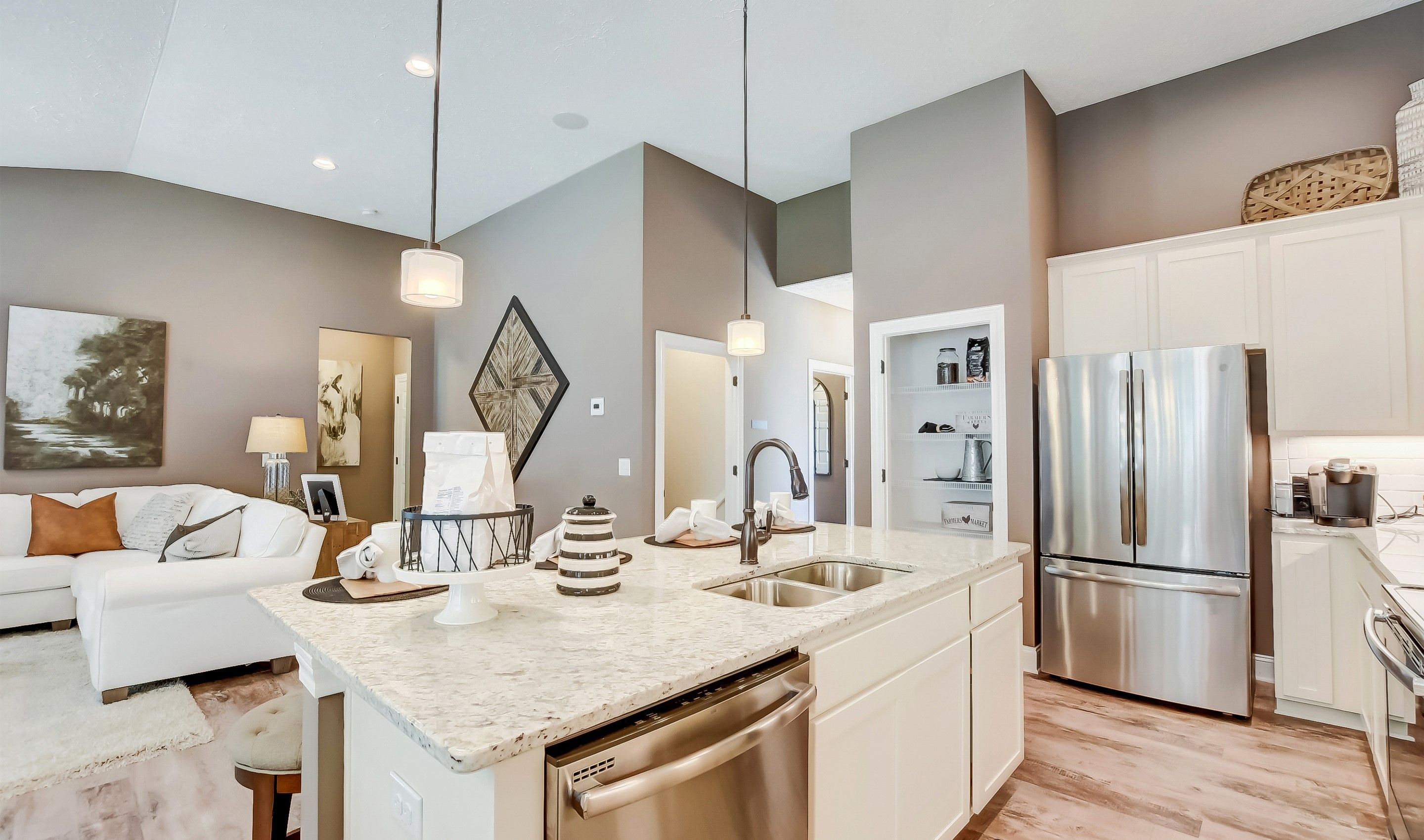 Greatroom-and-Dining-in-Bedford-at-The Preserve at Meadow Lakes-in-North Ridgeville