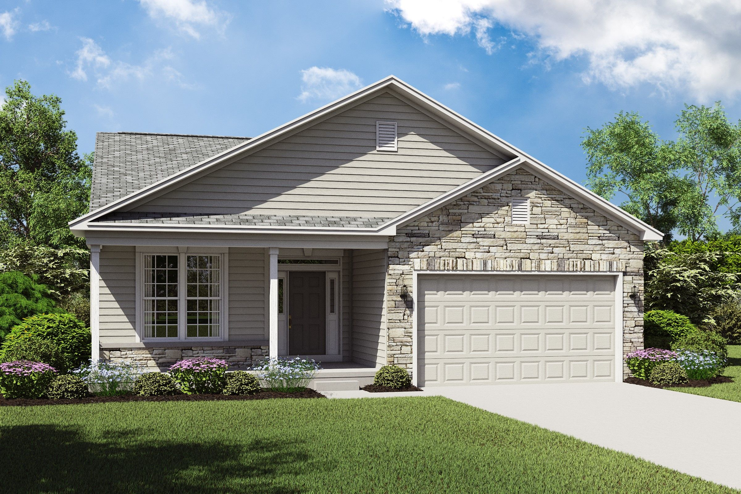 Exterior featured in the Eastwood By K. Hovnanian's® Four Seasons in Cleveland, OH