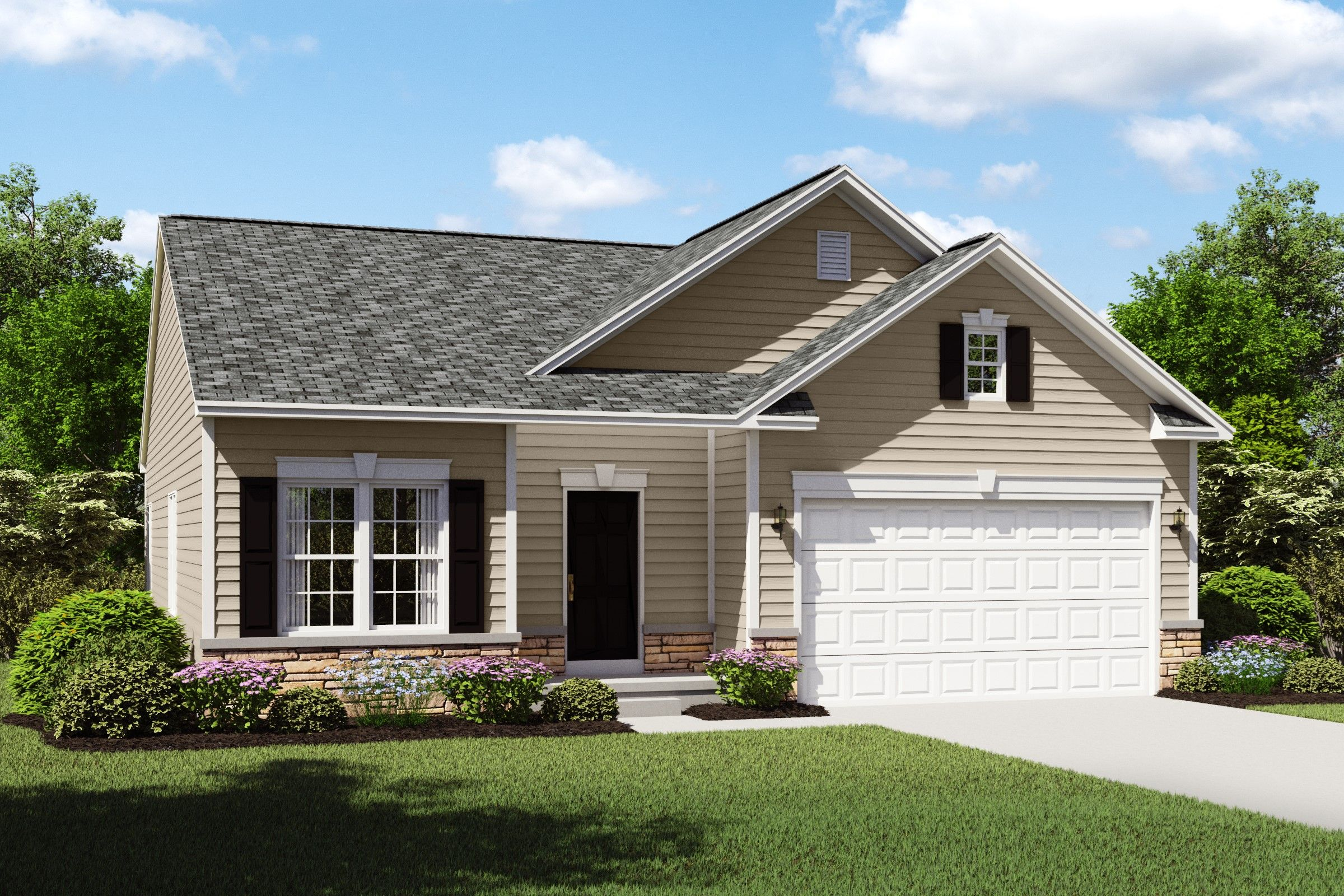 Exterior featured in the Bedford By K. Hovnanian's® Four Seasons in Cleveland, OH