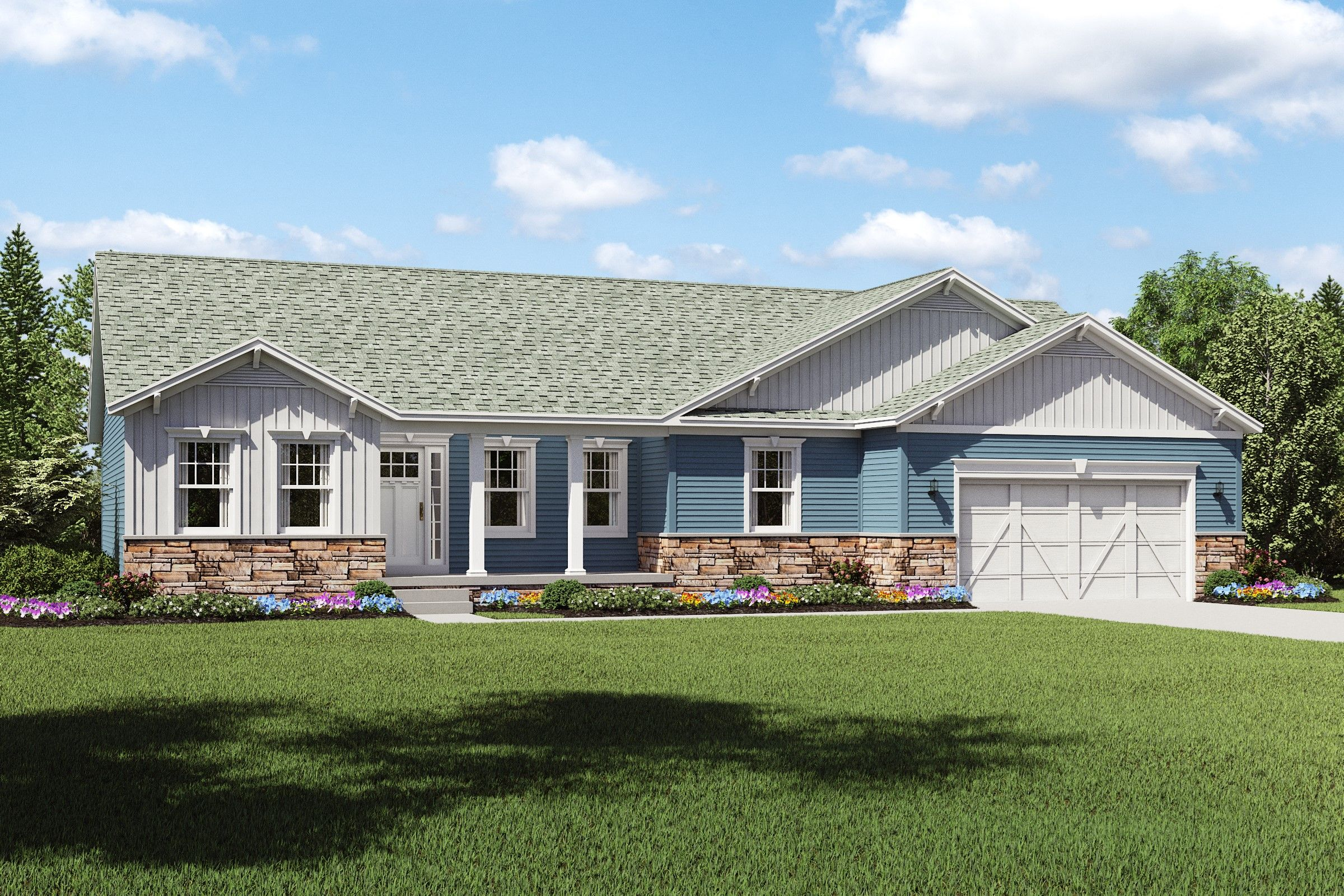 Exterior featured in the Glenn By K. Hovnanian® Homes - Build on Your Lot in Columbus, OH