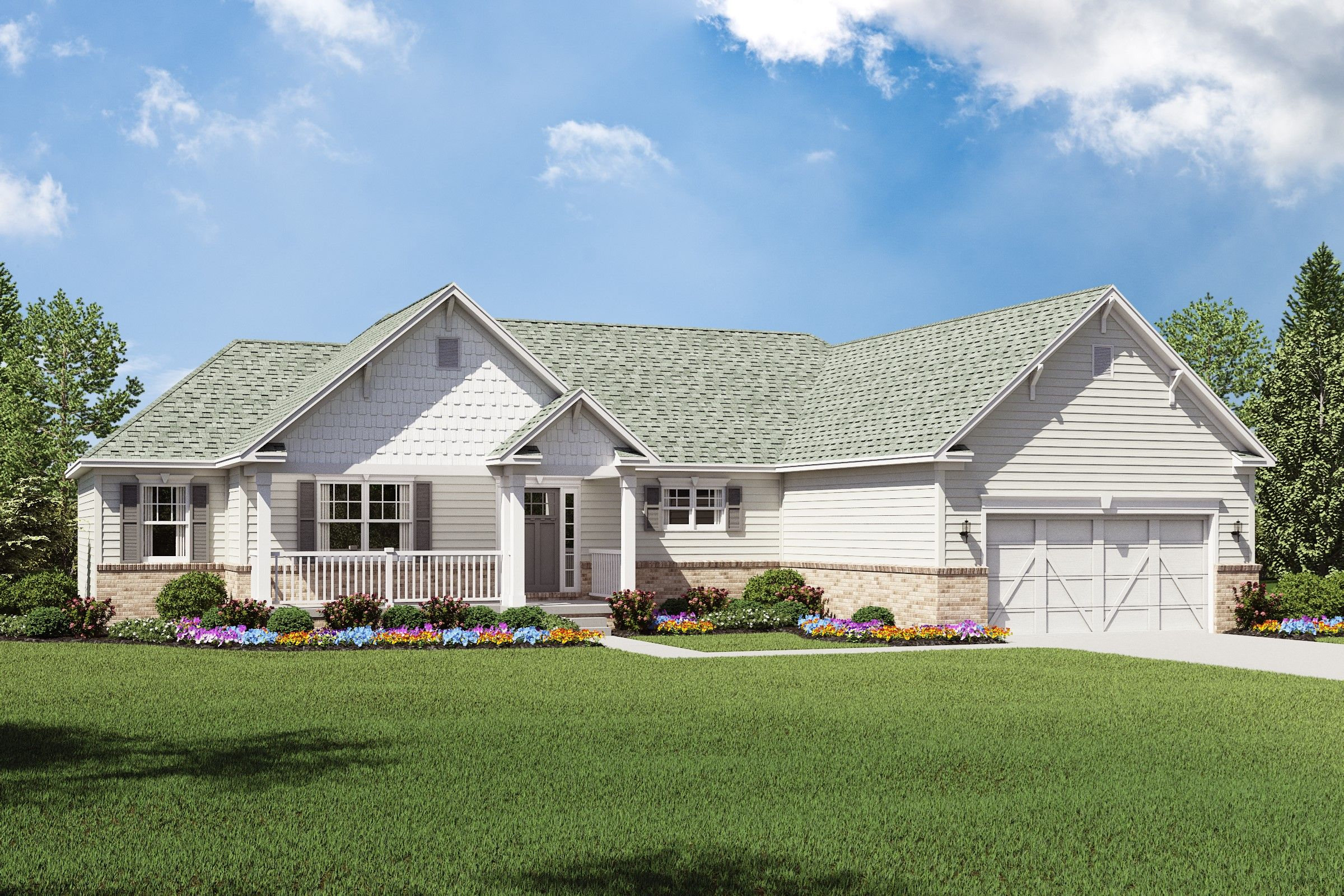 Exterior featured in the Sedgwick By K. Hovnanian® Homes - Build on Your Lot in Mansfield, OH
