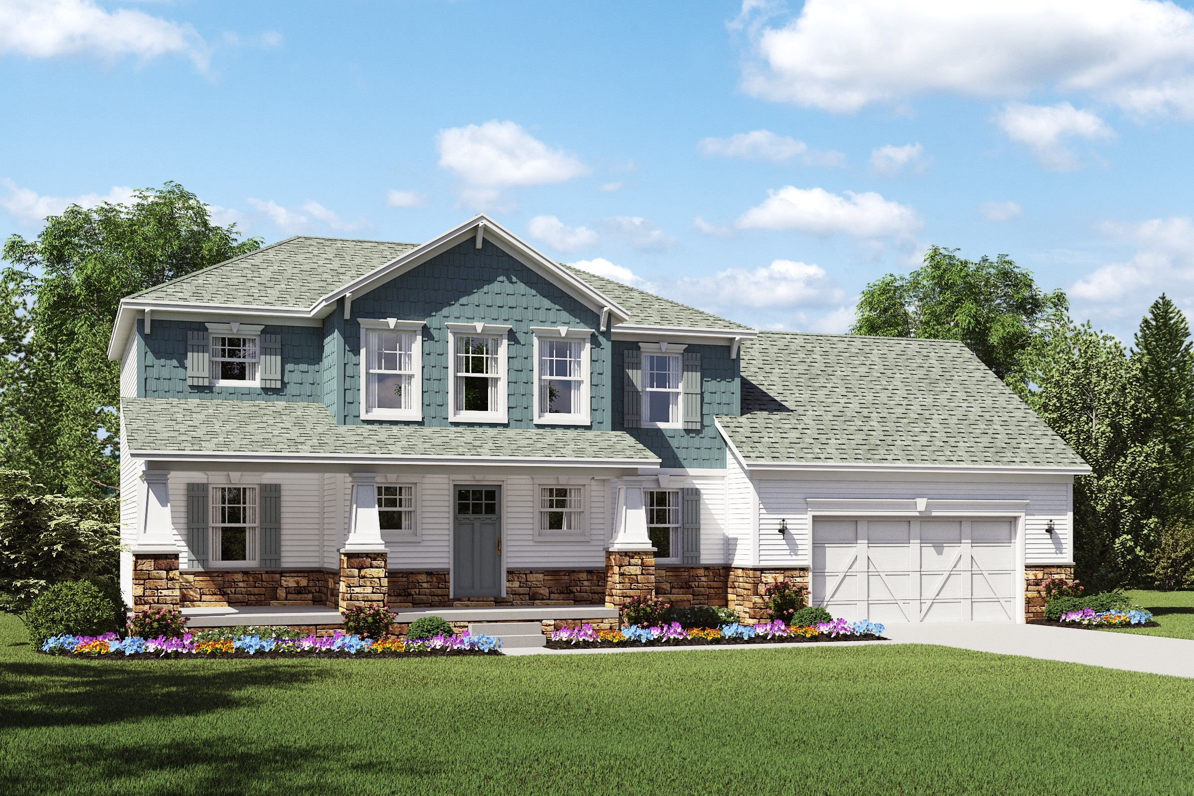 Exterior featured in the Turner By K. Hovnanian® Homes - Build on Your Lot in Youngstown-Warren, OH