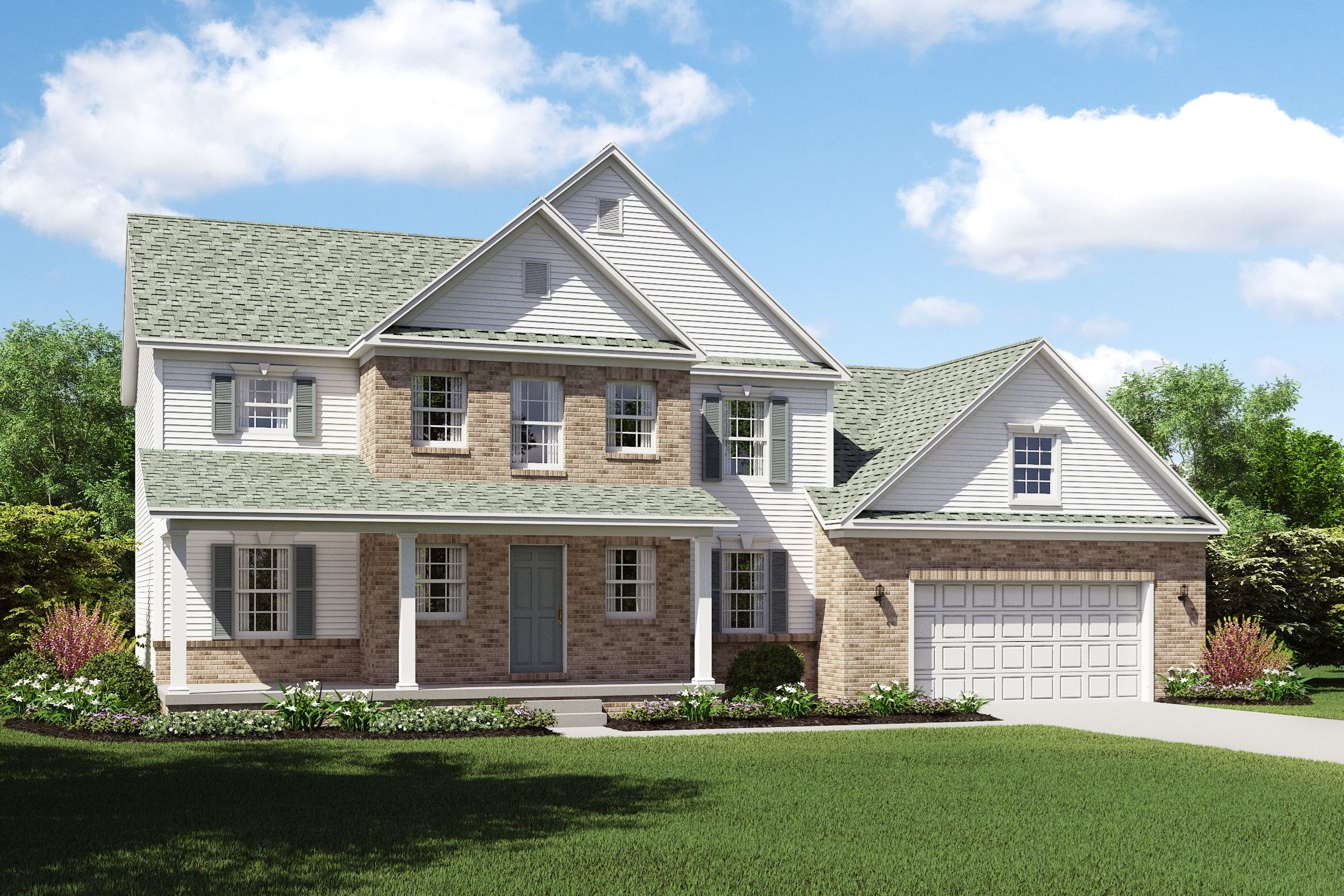Exterior featured in the Turner By K. Hovnanian® Homes - Build on Your Lot in Columbus, OH