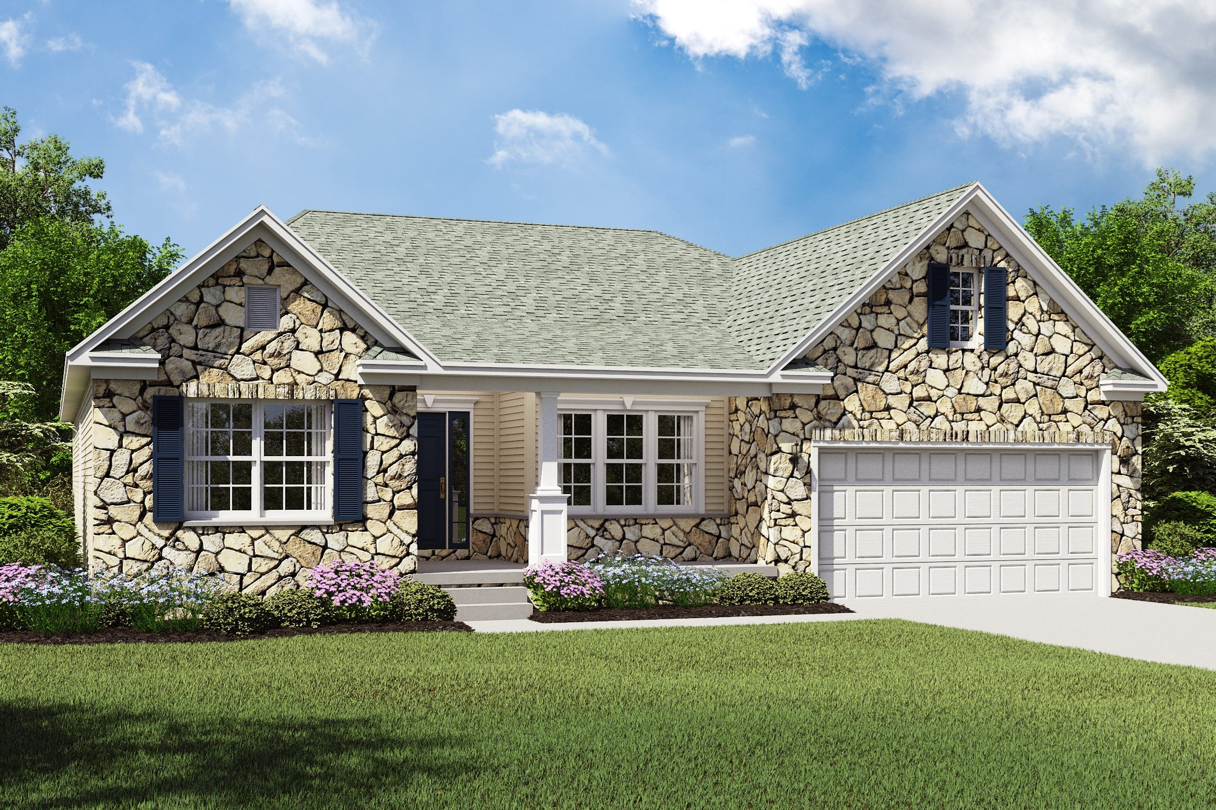 Exterior featured in the Rockford By K. Hovnanian® Homes - Build on Your Lot