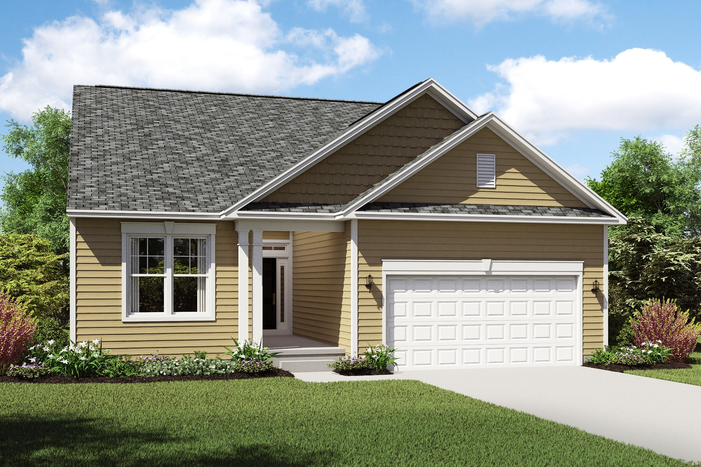 Exterior featured in the Killarney By K. Hovnanian's® Four Seasons in Cleveland, OH