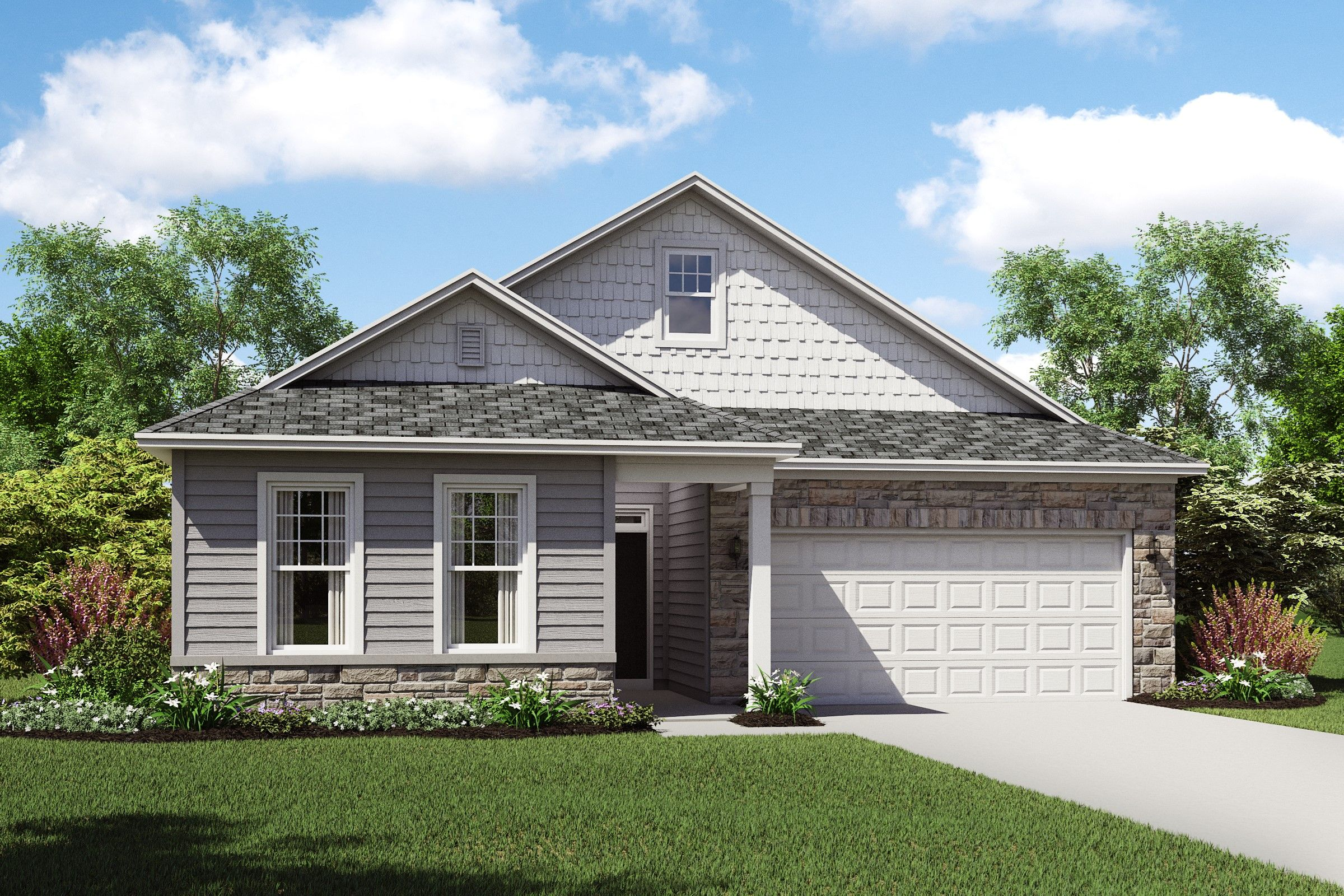 Exterior featured in the Barclay By K. Hovnanian's® Four Seasons in Cleveland, OH