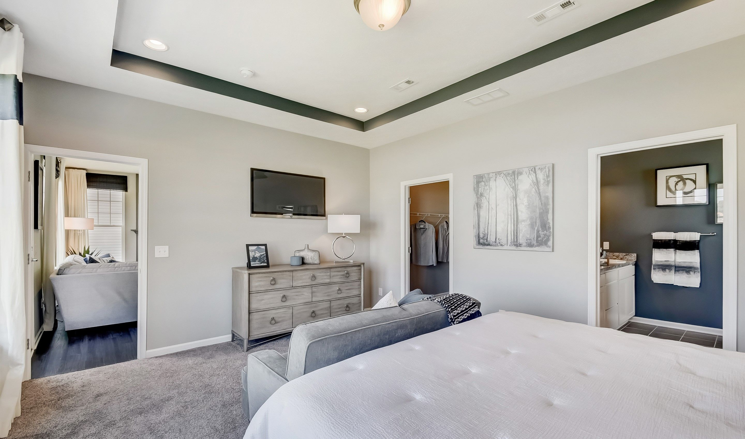 Bedroom featured in the Monterey II By K. Hovnanian's® Four Seasons in Cleveland, OH