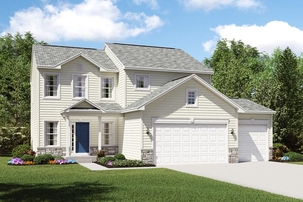 Exterior:Appleton A with optional stone