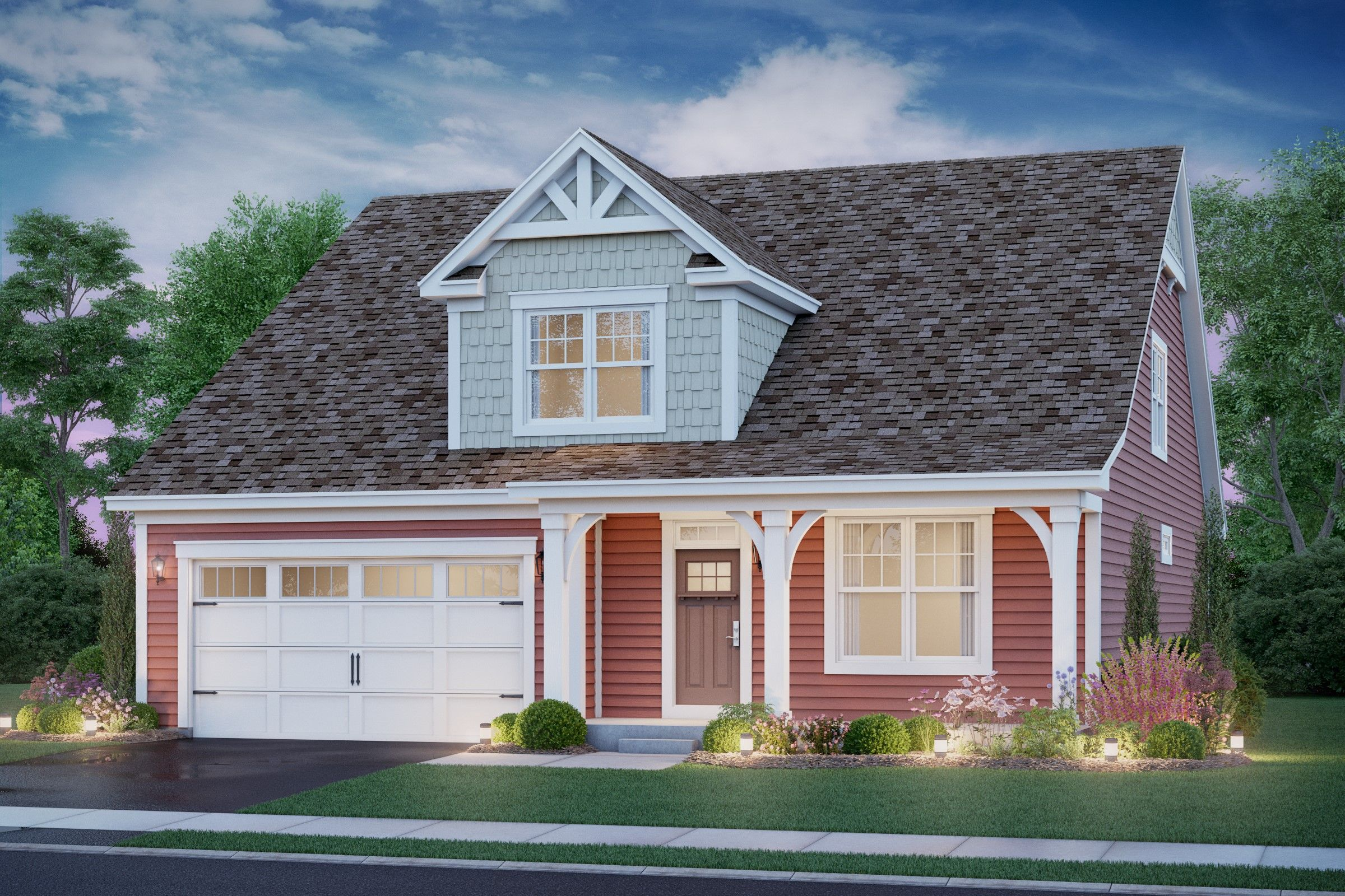 Exterior featured in the Peterson By K. Hovnanian® Homes in Chicago, IL
