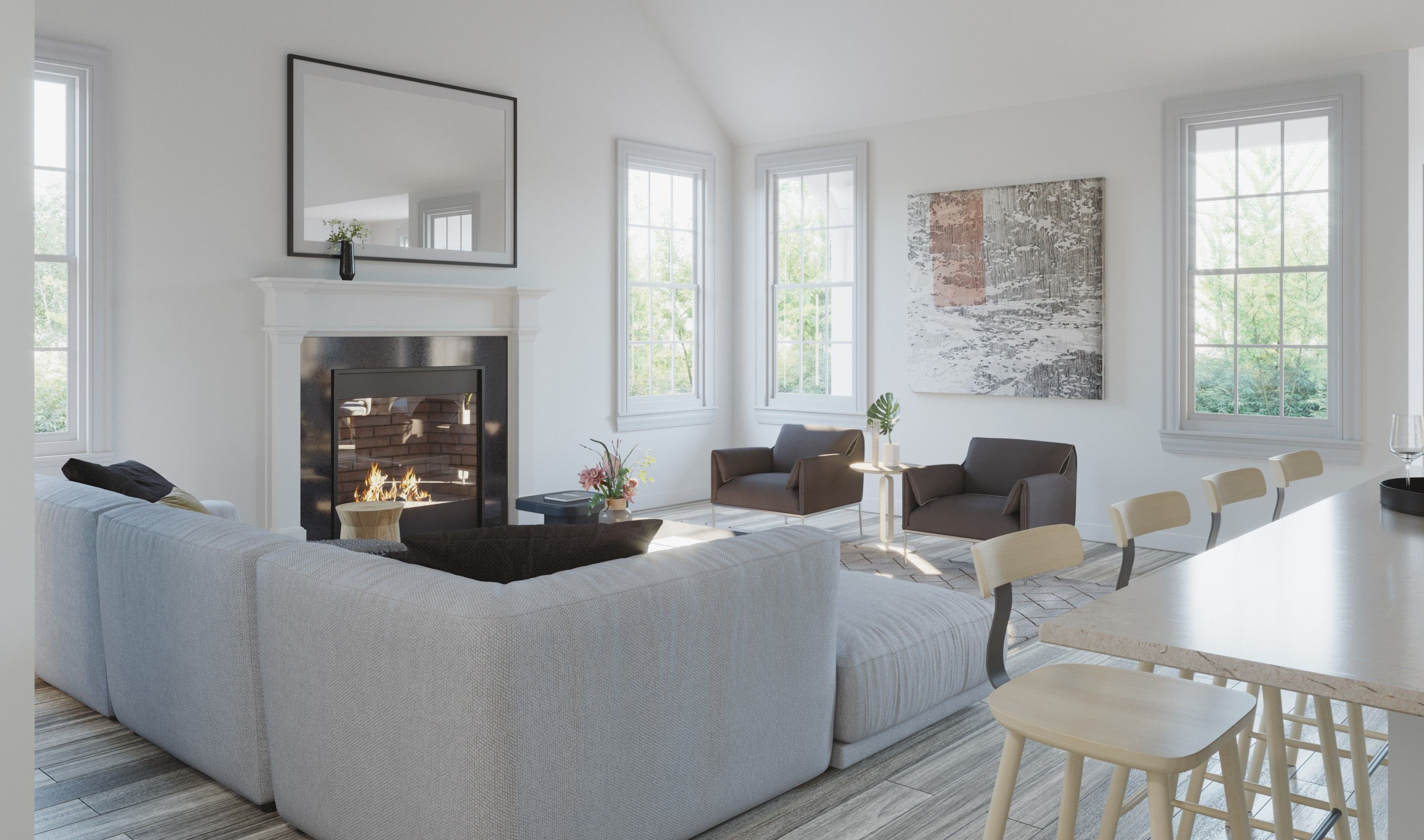 Living Area featured in the Peterson By K. Hovnanian® Homes in Chicago, IL