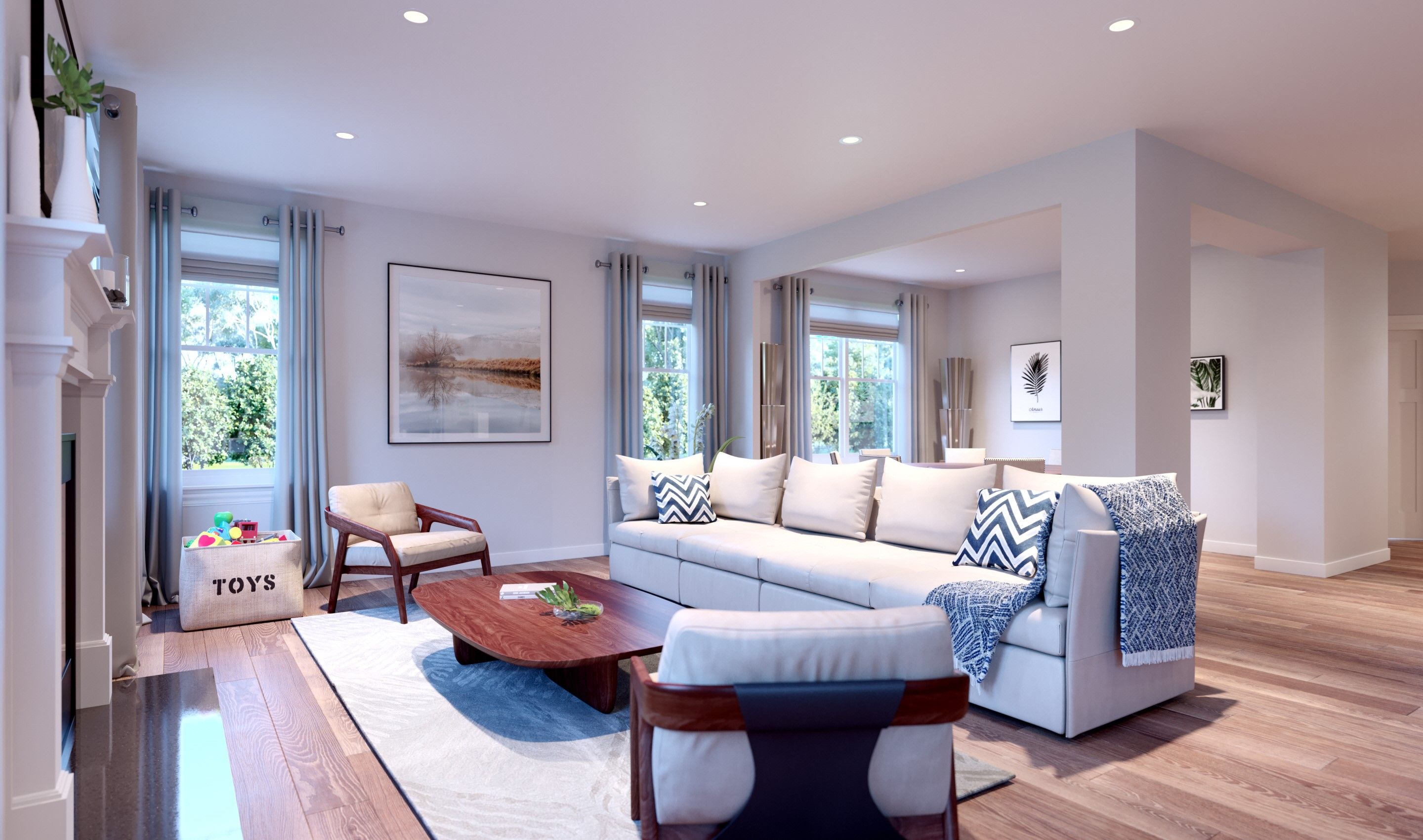 Living Area featured in the Ruskin By K. Hovnanian® Homes in Chicago, IL
