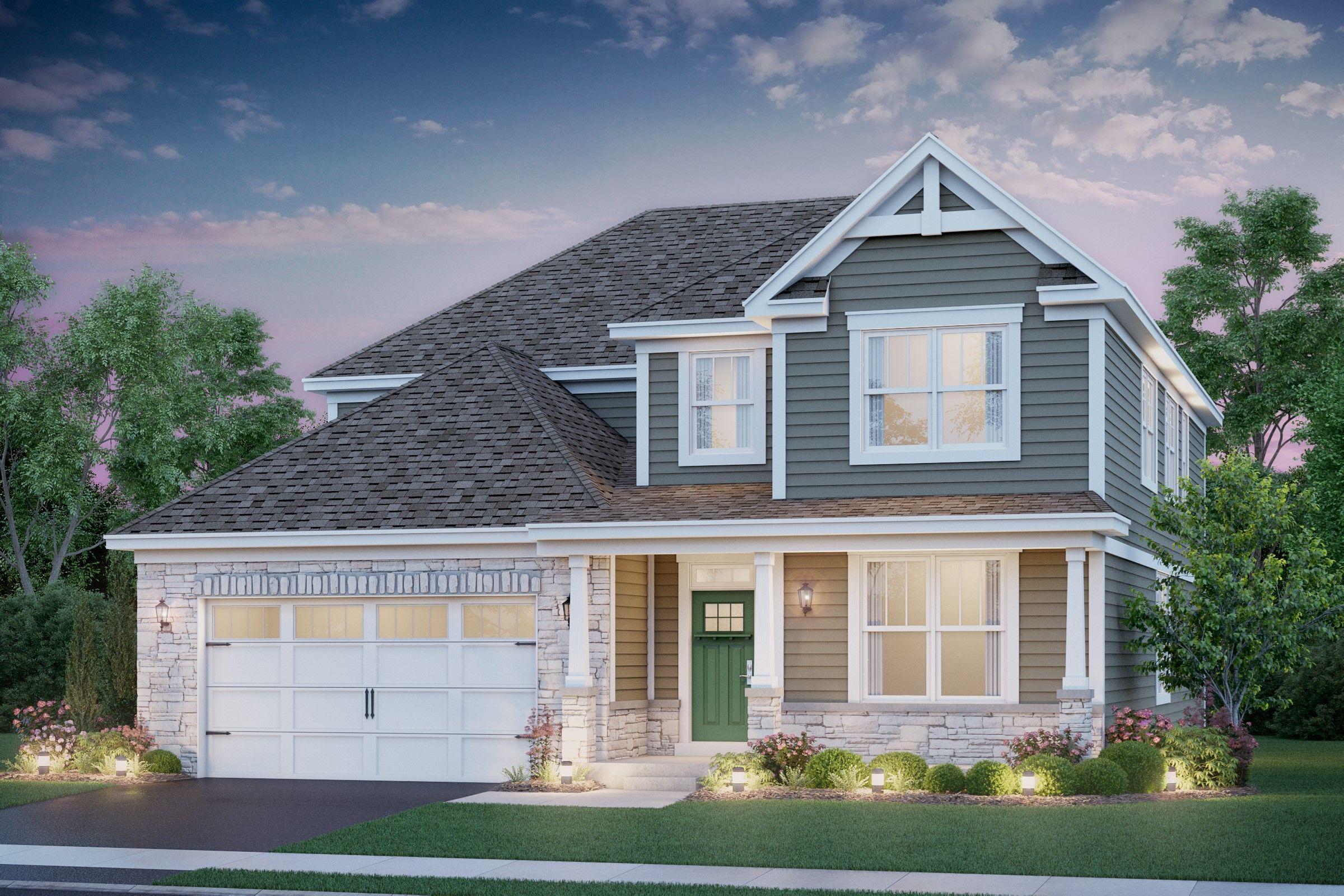 Exterior featured in the Manchester By K. Hovnanian® Homes in Chicago, IL