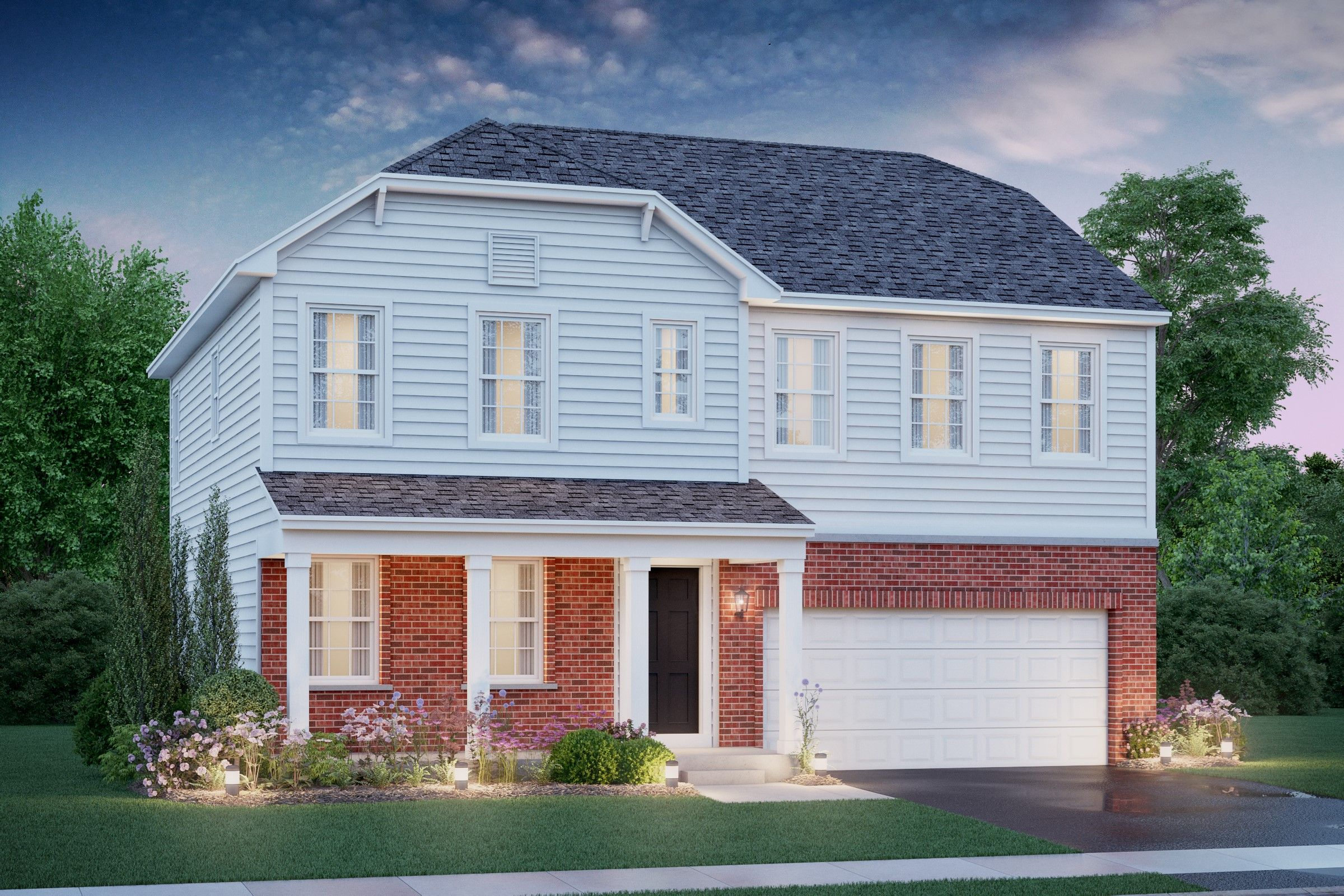 Exterior featured in the Starks By K. Hovnanian® Homes in Chicago, IL