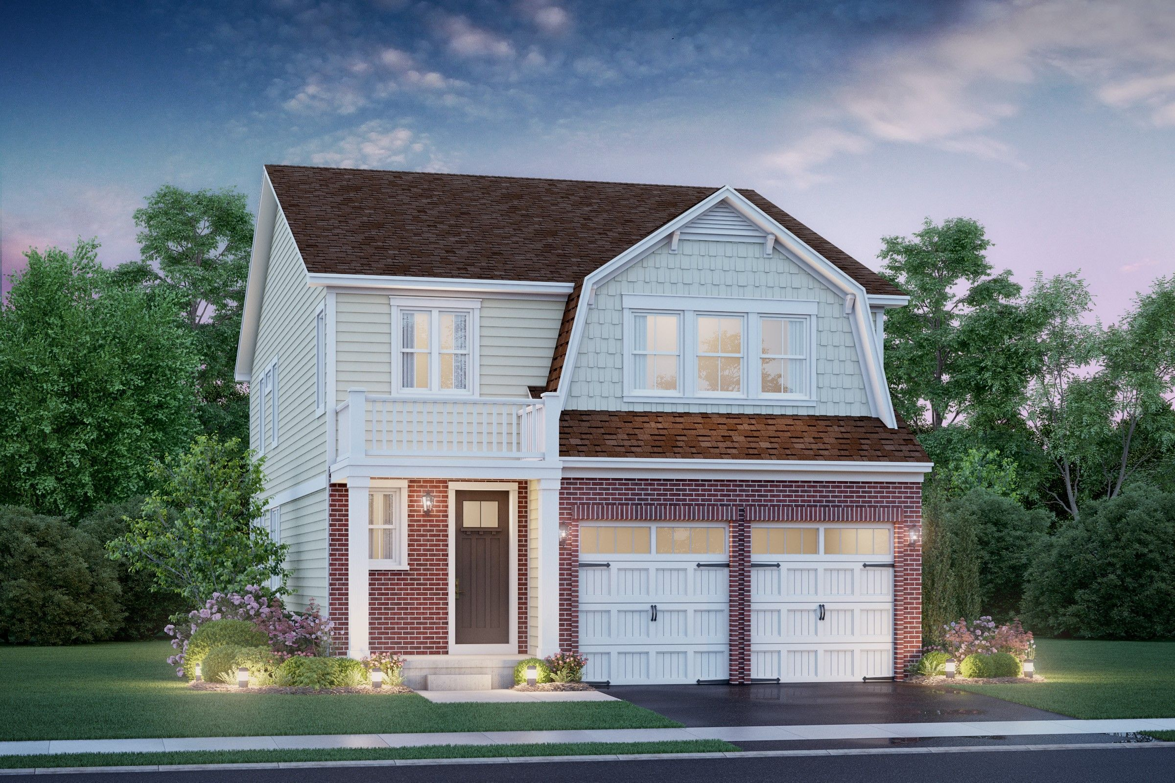 Exterior featured in the York II By K. Hovnanian® Homes in Chicago, IL