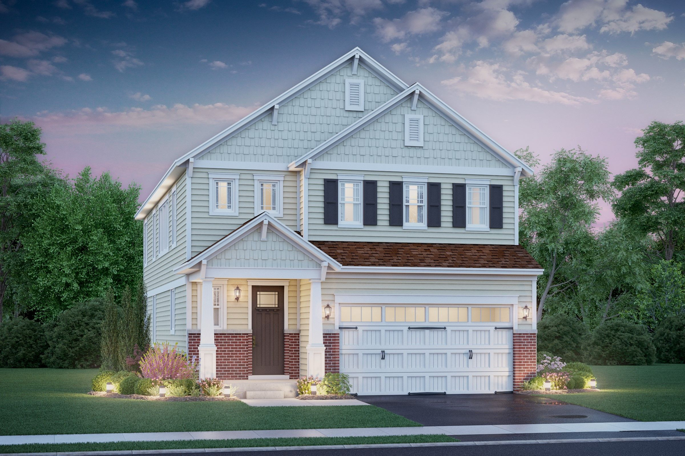 Exterior featured in the Henley II By K. Hovnanian® Homes in Chicago, IL
