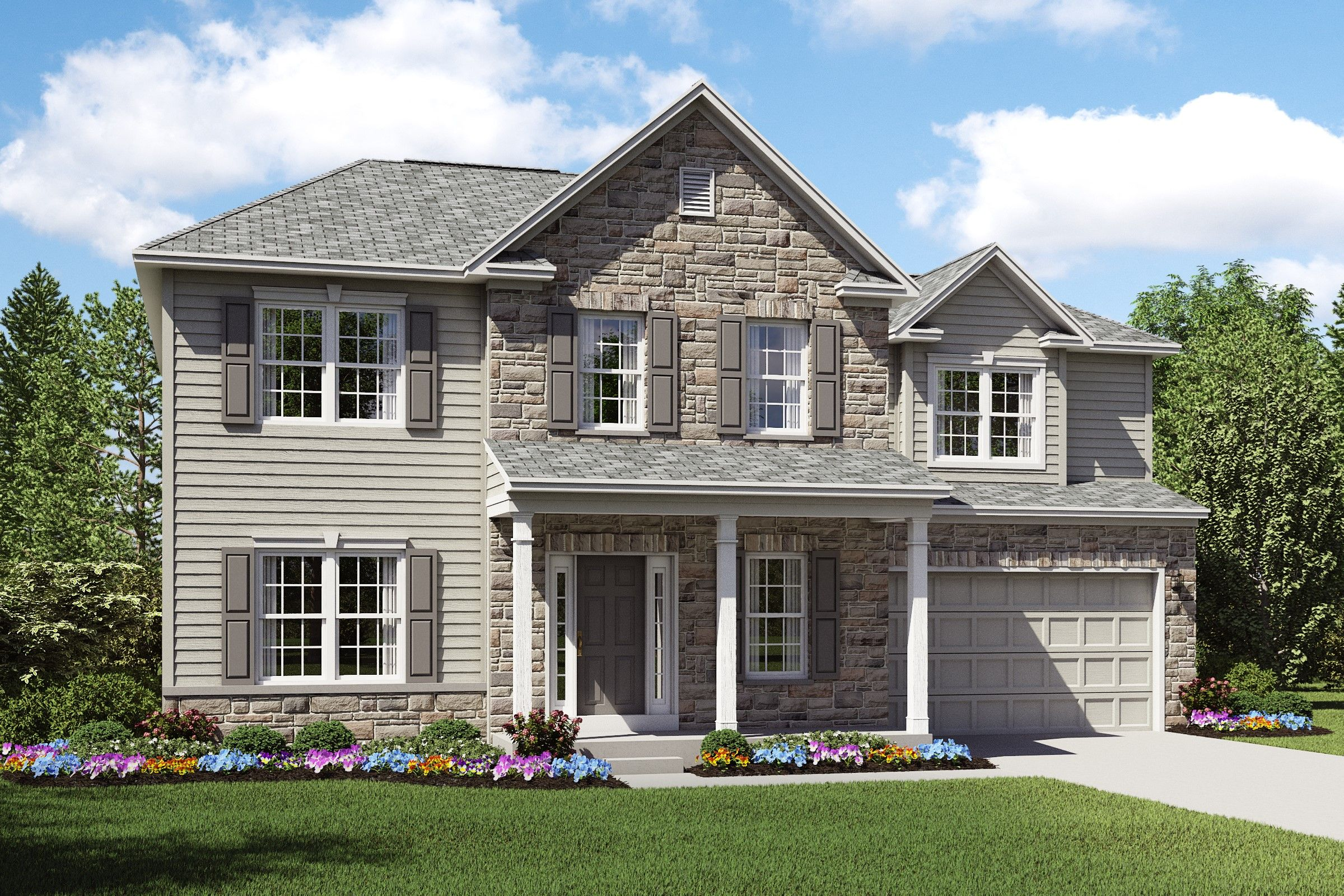 Exterior featured in the Waterford II By K. Hovnanian® Homes in Cleveland, OH
