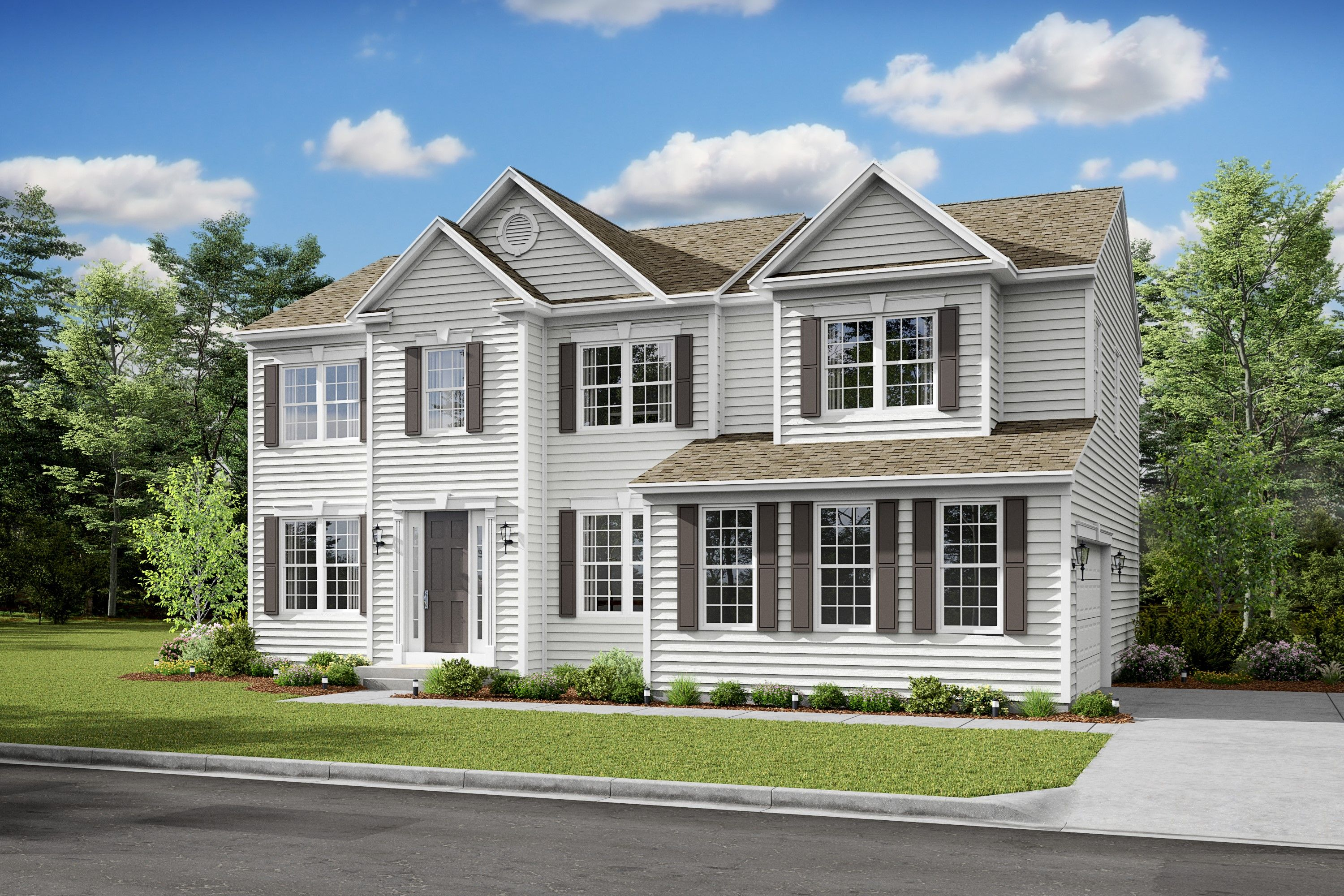 Exterior featured in the Delaware II By K. Hovnanian® Homes in Dover, DE