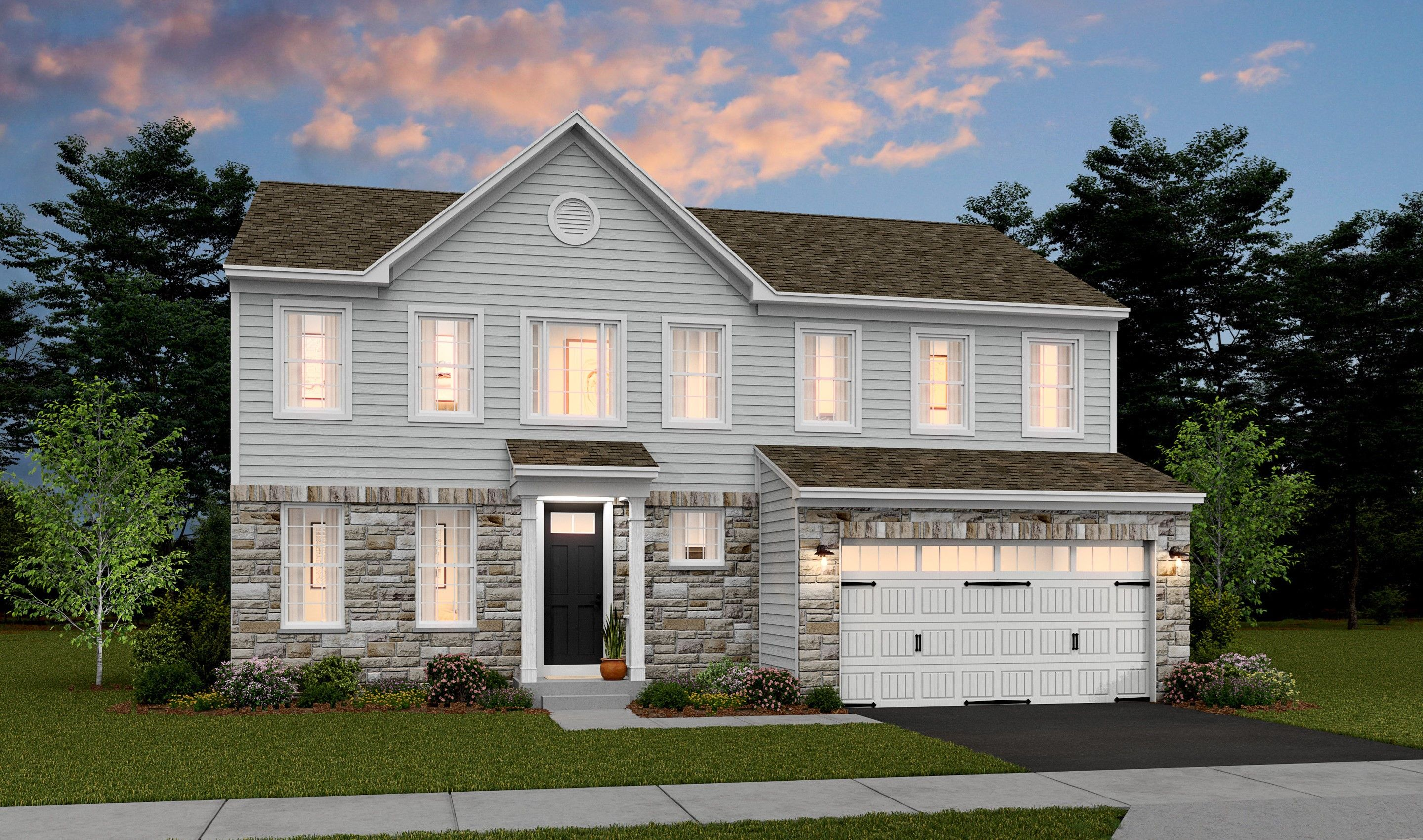 Exterior featured in the Peachtree II By K. Hovnanian® Homes in Middlesex County, NJ