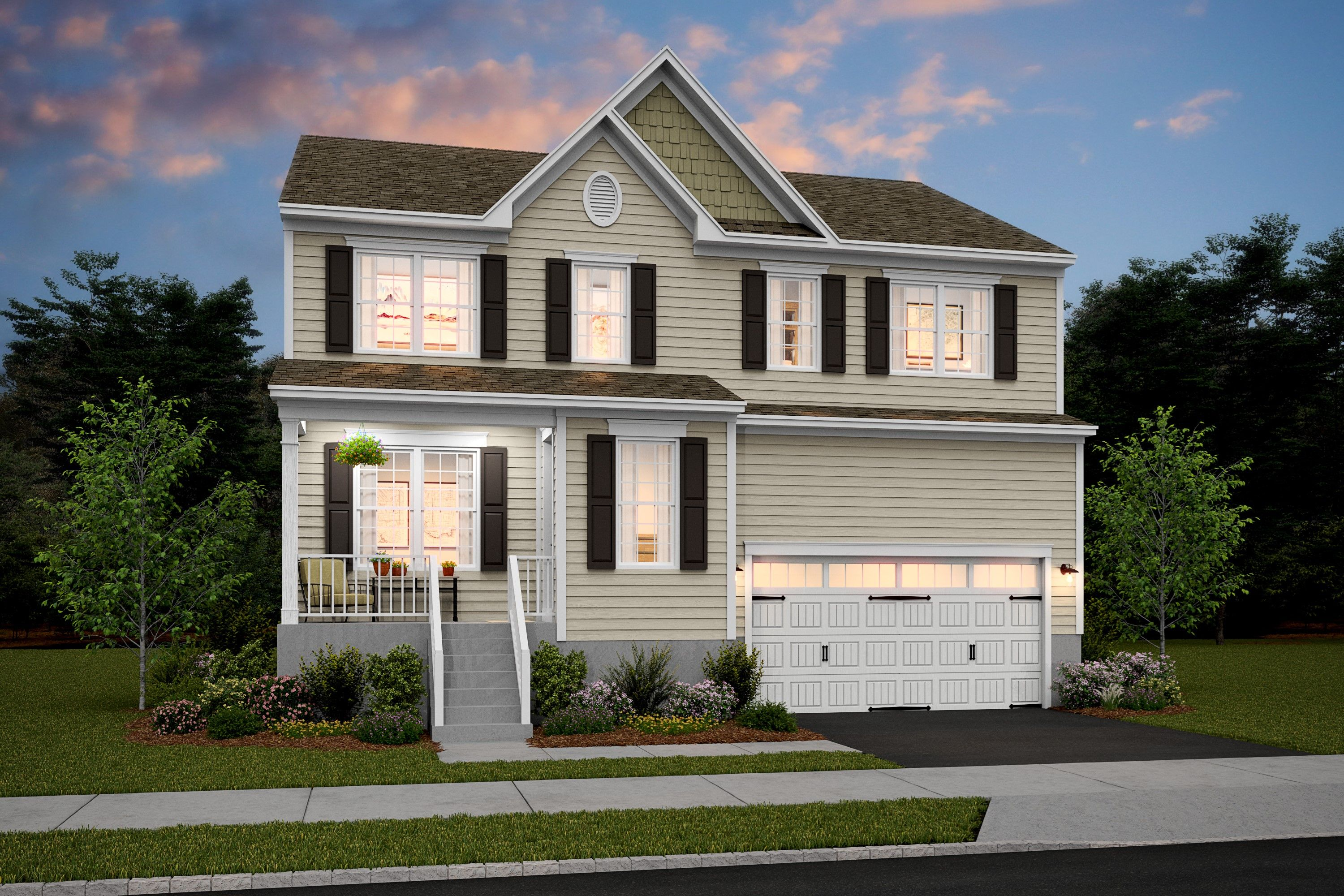 Exterior featured in the Tomasen By K. Hovnanian® Homes in Middlesex County, NJ