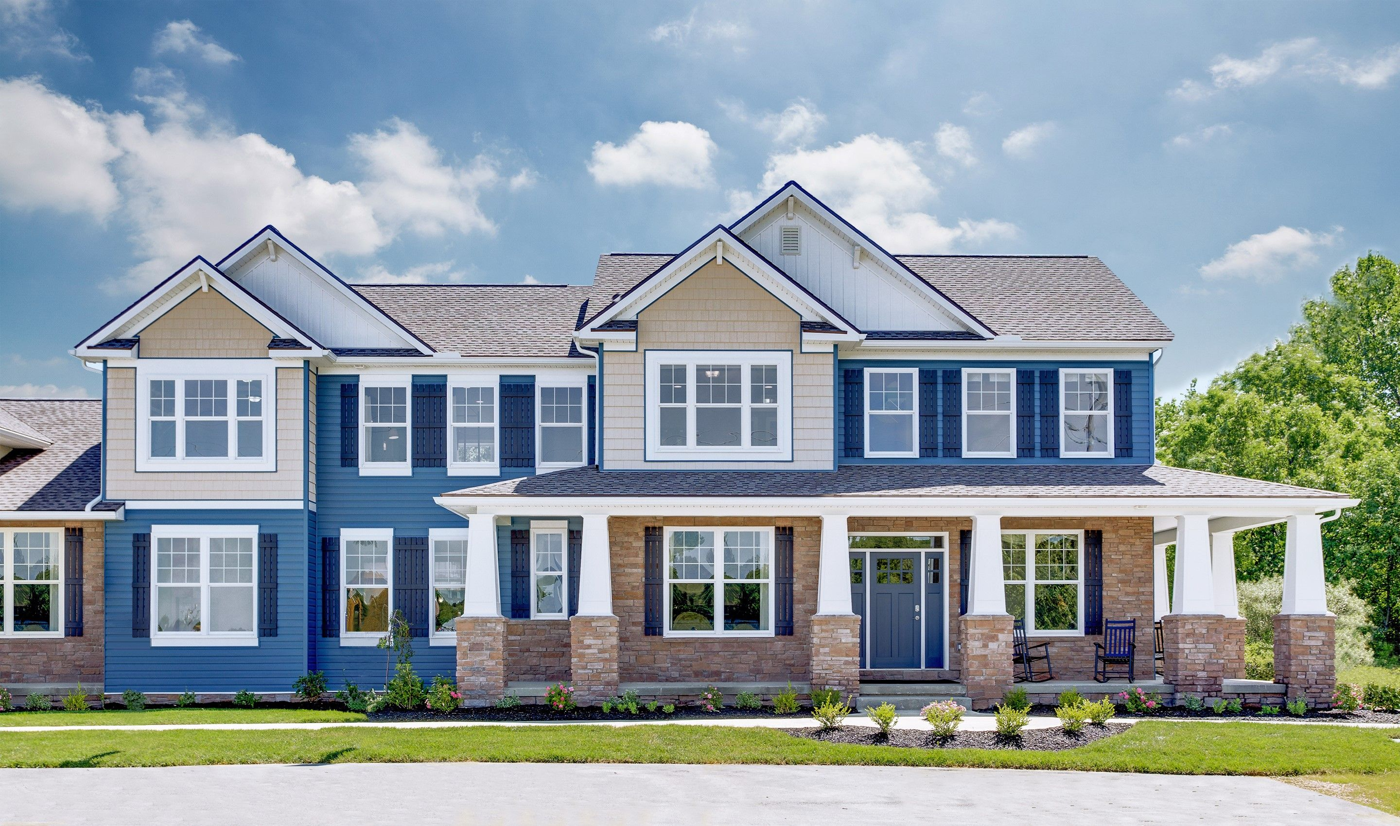 Exterior featured in the Pendleton II By K. Hovnanian® Homes - Build on Your Lot in Mansfield, OH