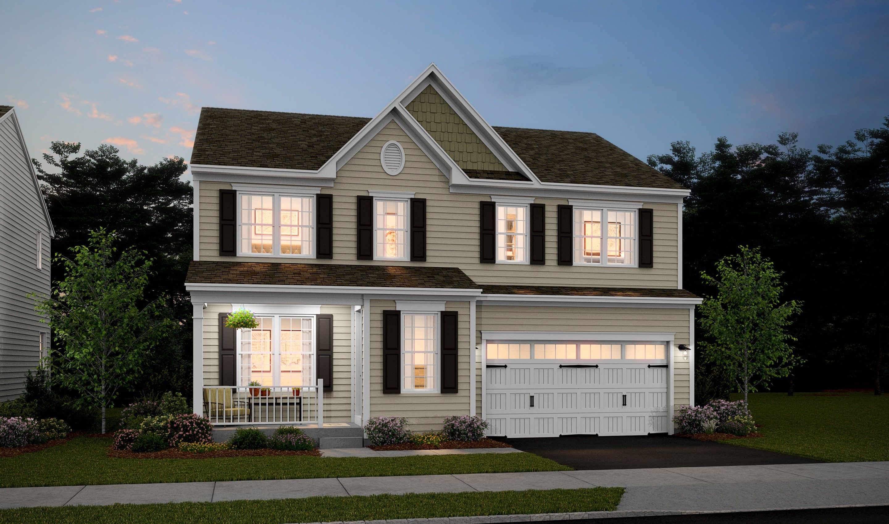 Exterior featured in the Tomasen By K. Hovnanian® Homes in Monmouth County, NJ