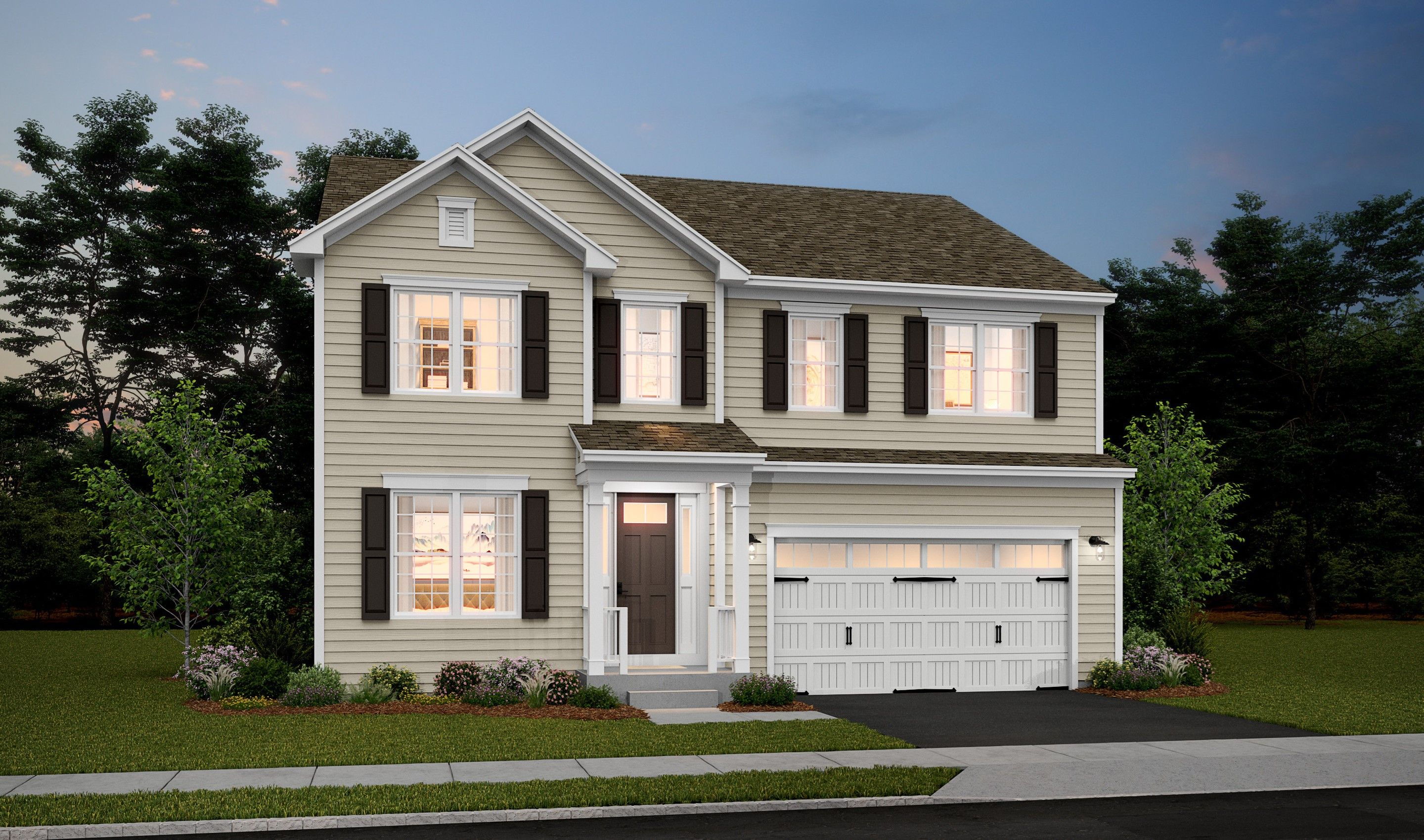 Exterior featured in the Brookdale By K. Hovnanian® Homes in Monmouth County, NJ