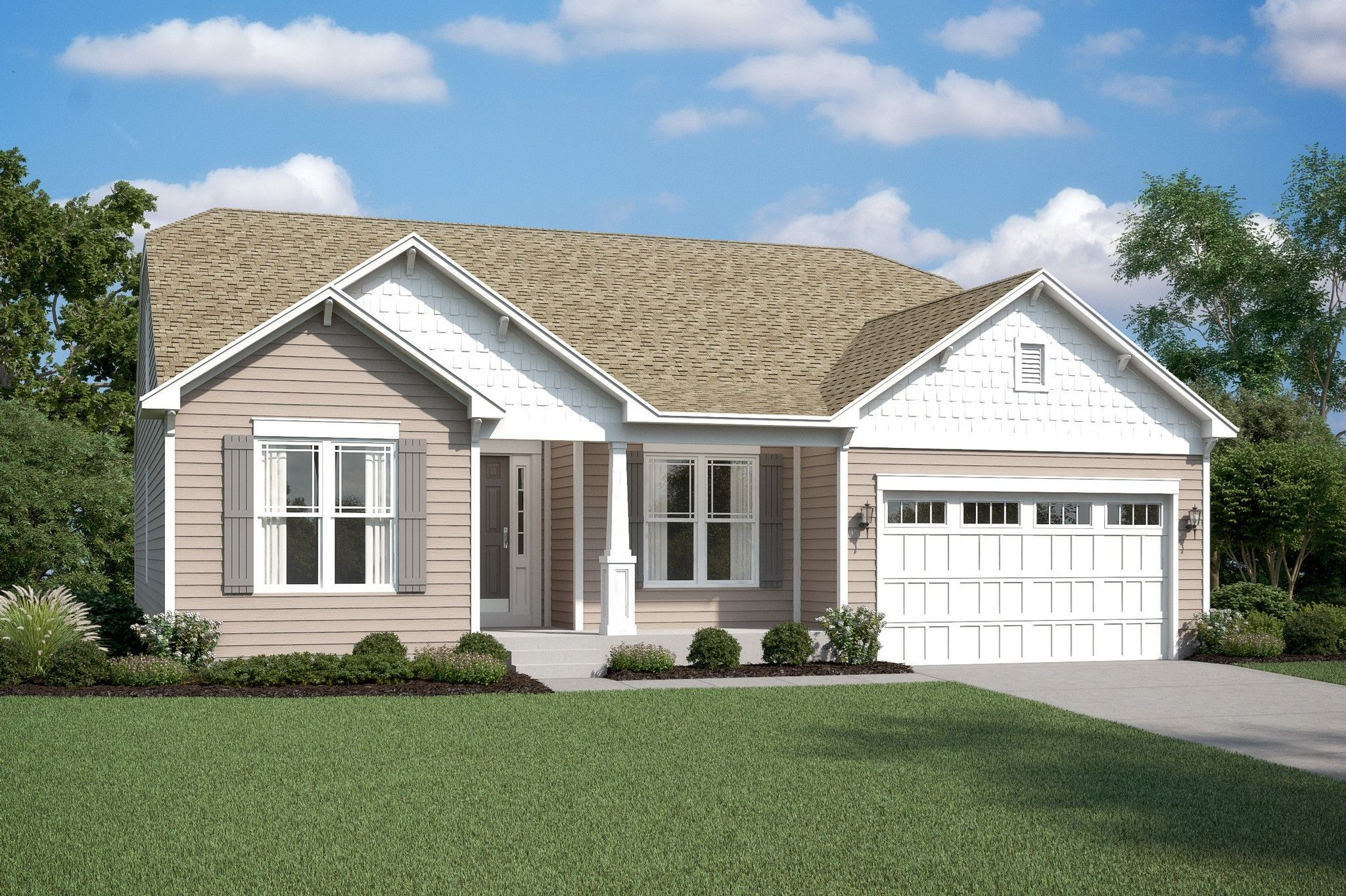 Exterior featured in the Rockford By K. Hovnanian's® Four Seasons in Wilmington-Newark, DE