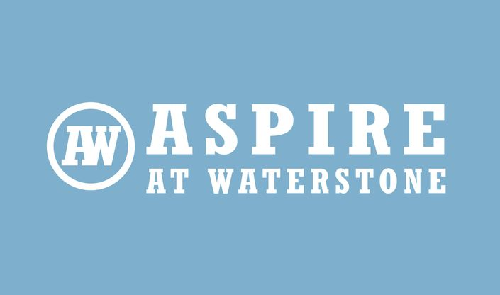 Aspire Logo white on blue - ASPOT