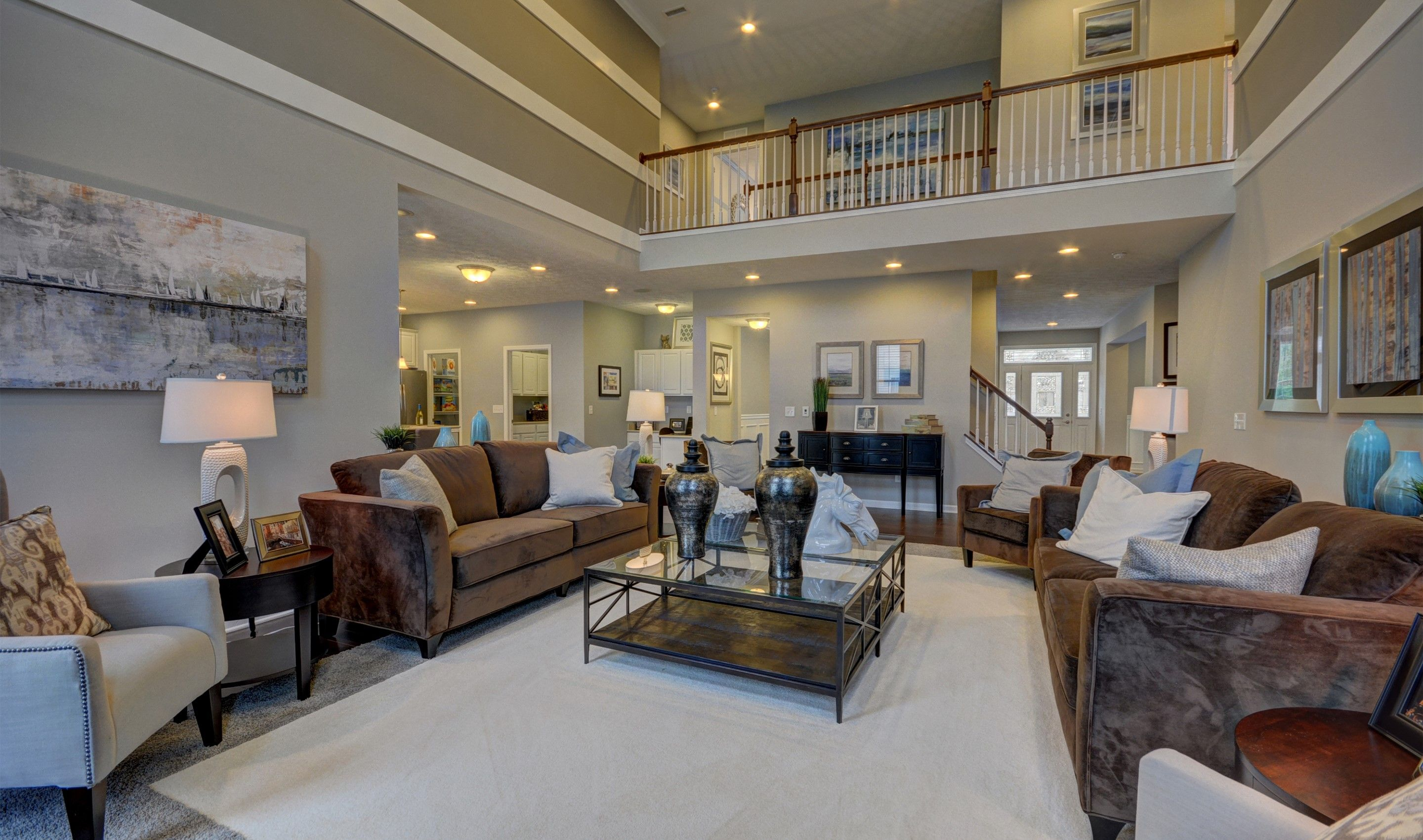 ... Two Story Family Room ...