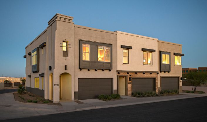 exterior pinnacle at silverstone new homes scottsdale az