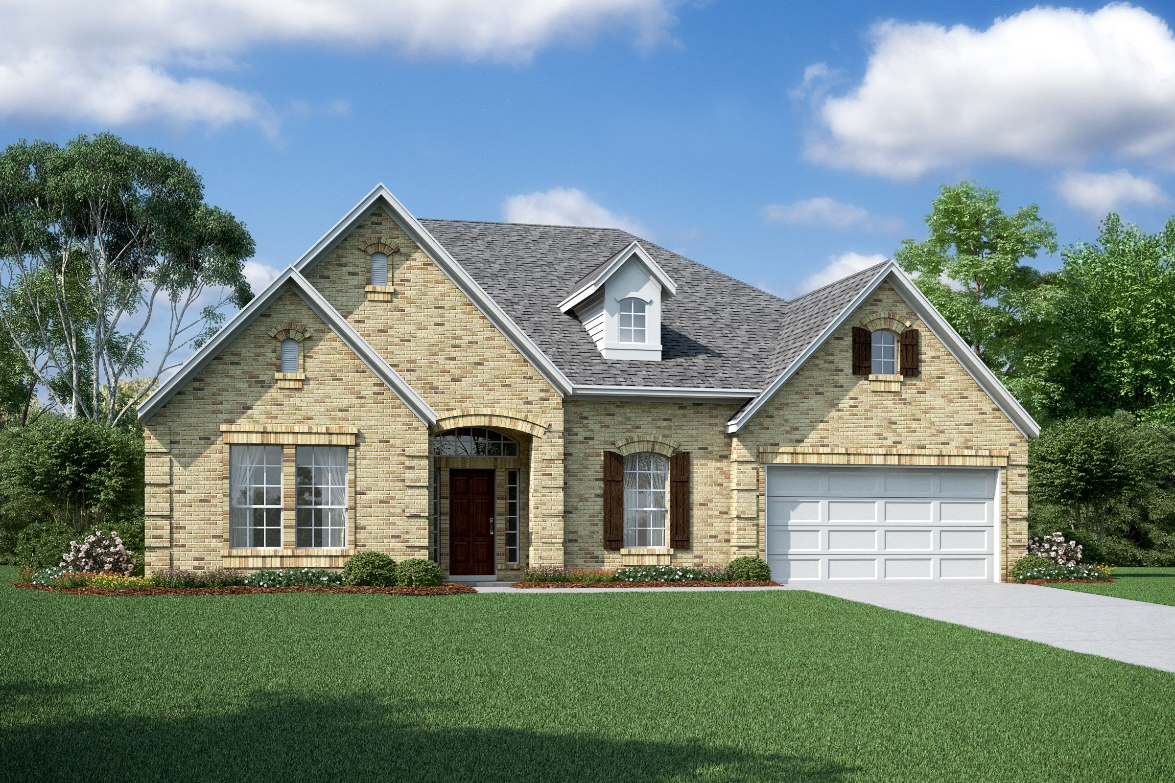 Exterior featured in the Margaret By K. Hovnanian® Homes in Houston, TX