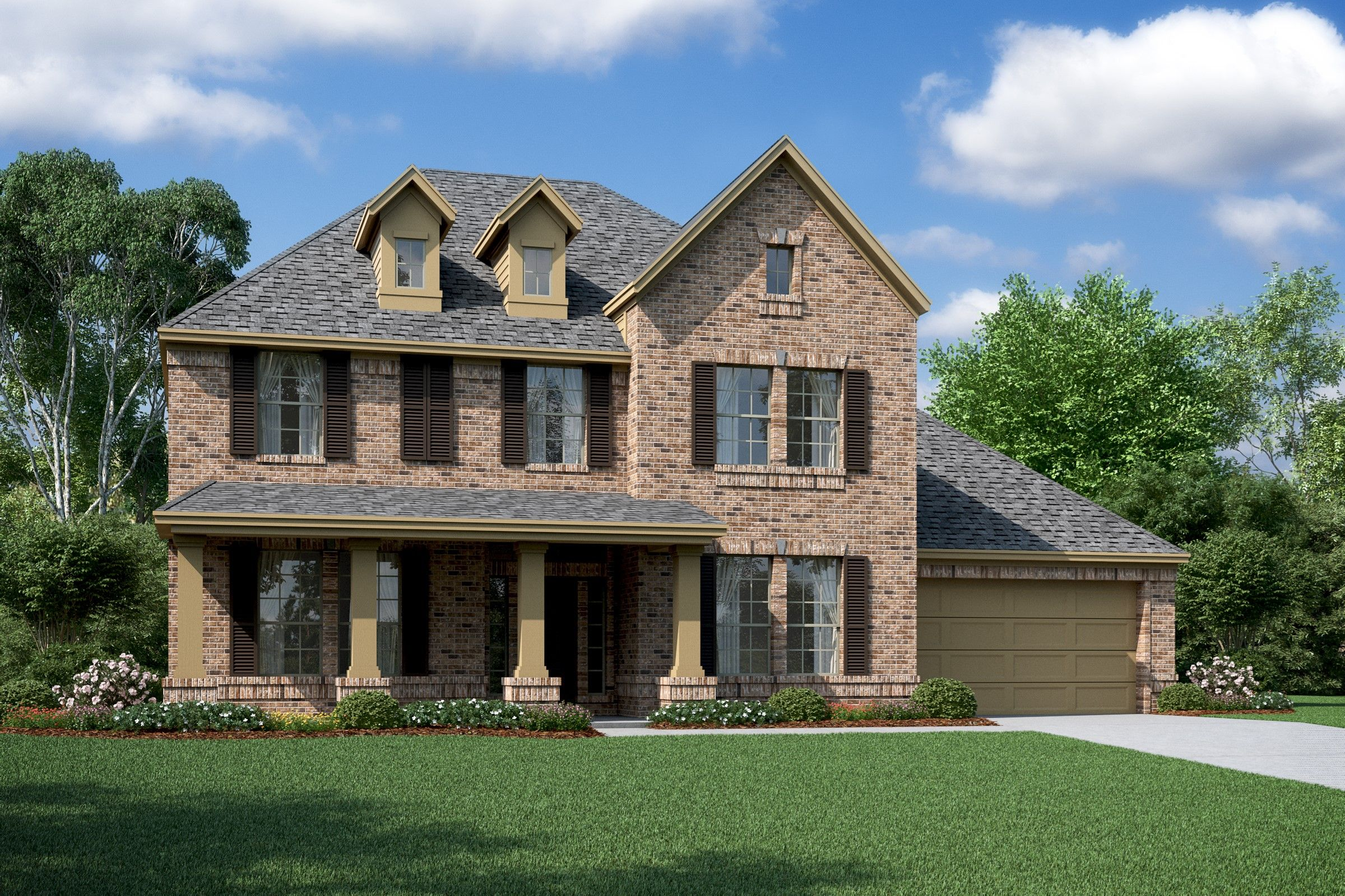 Exterior featured in the Louise By K. Hovnanian® Homes in Houston, TX