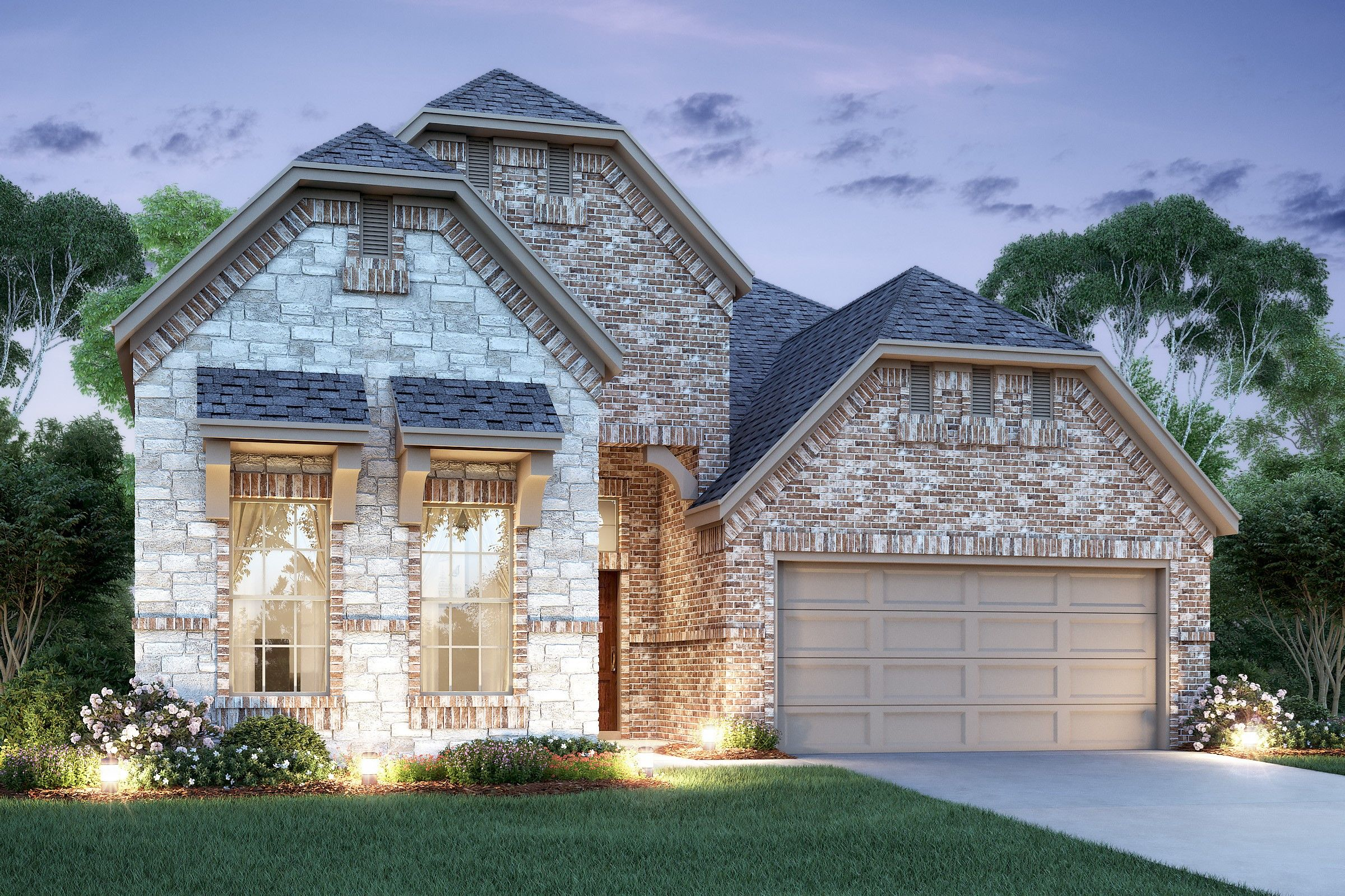 Exterior featured in the Tuscany II By K. Hovnanian® Homes in Houston, TX