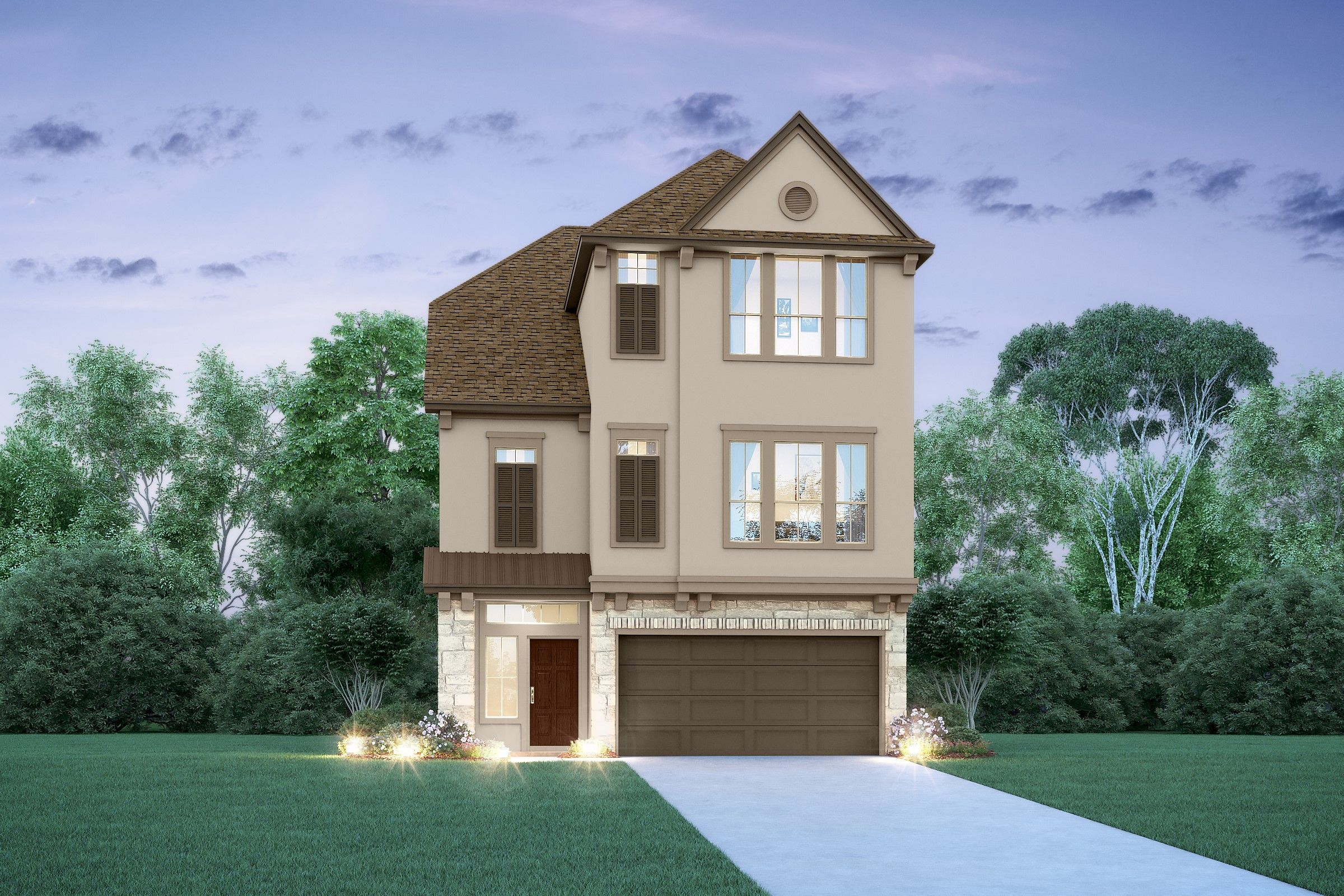 Exterior featured in the Odyssey II By K. Hovnanian® Homes in Houston, TX
