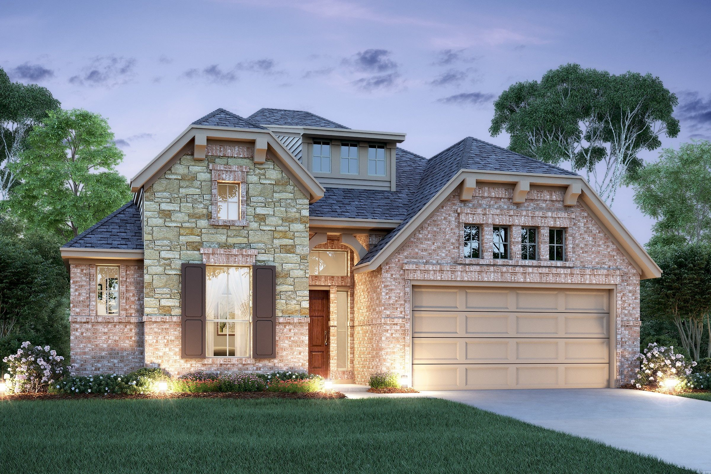 Exterior featured in the Juniper II By K. Hovnanian® Homes in Houston, TX