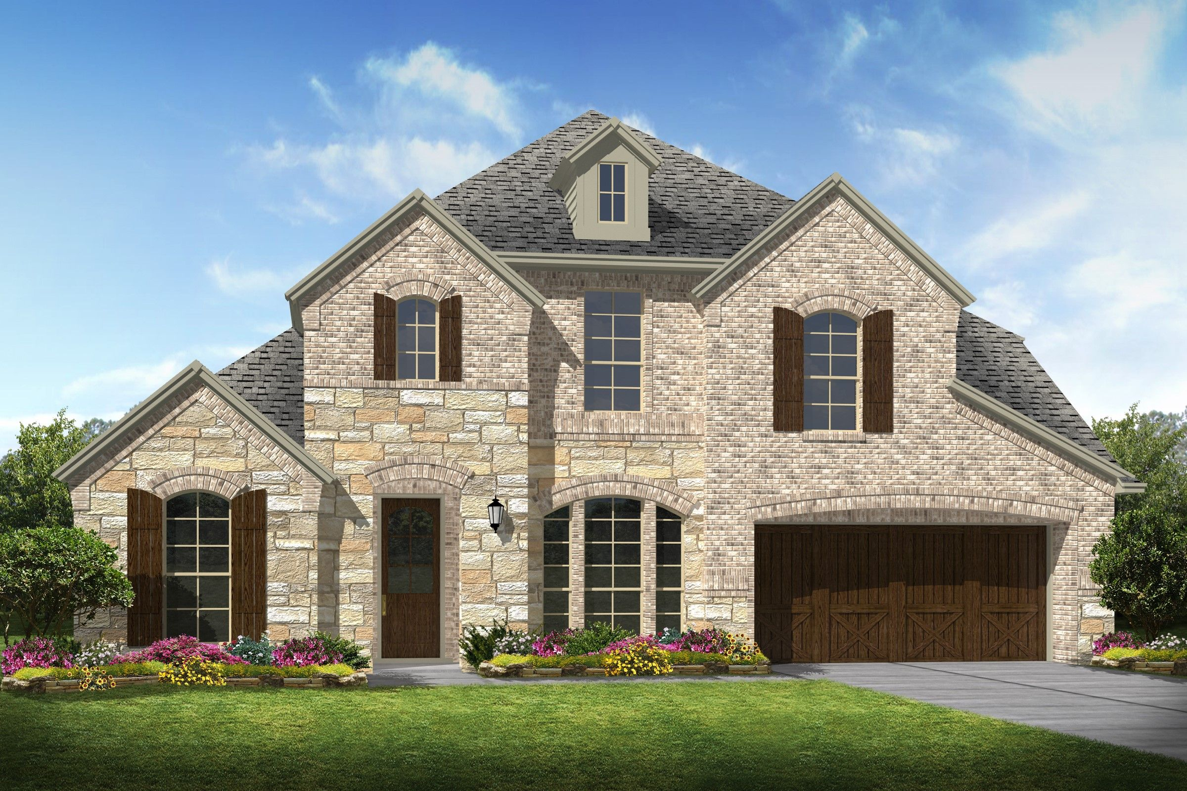 Exterior featured in the Clarendon By K. Hovnanian® Homes in Houston, TX