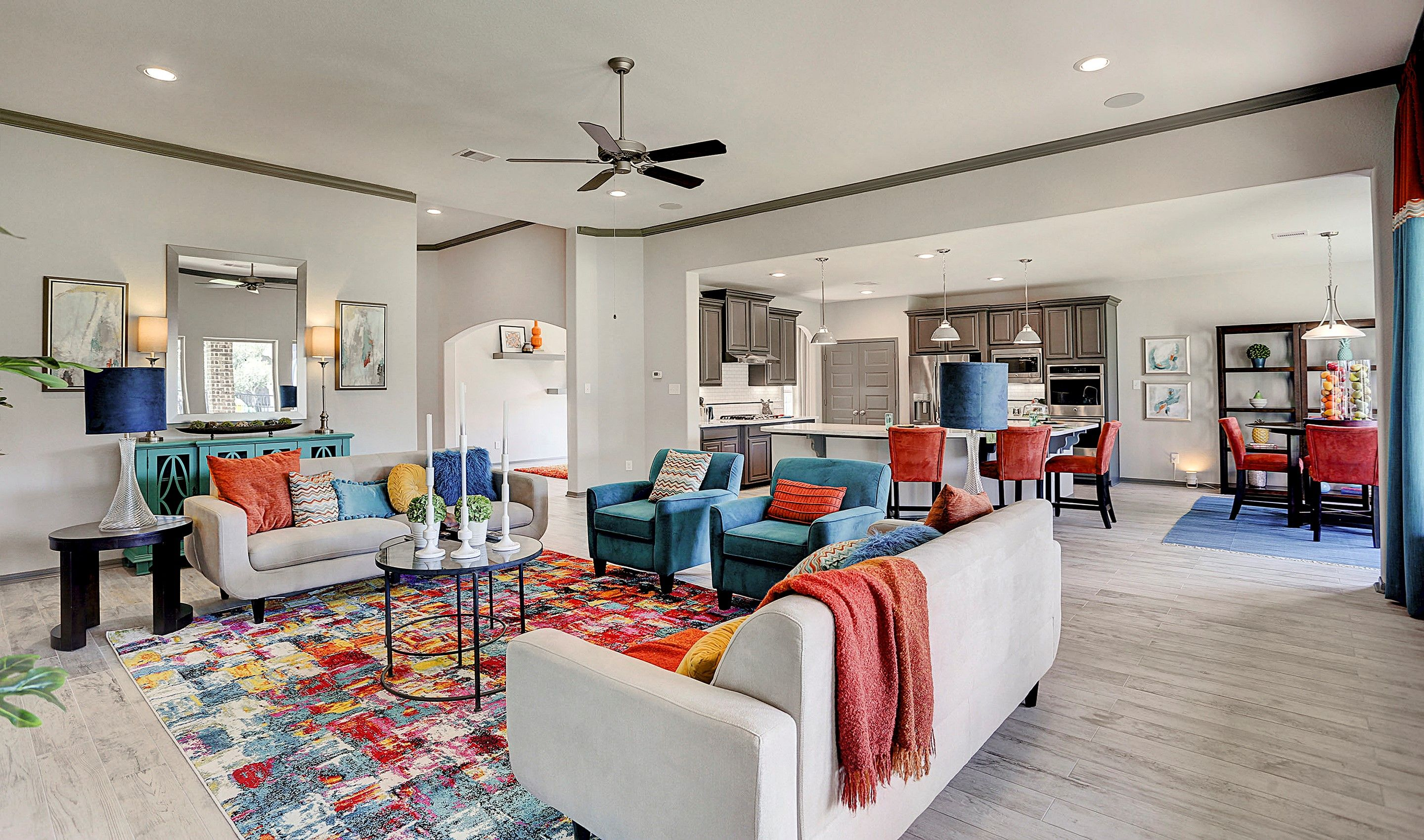 Greatroom-and-Dining-in-Hayden-at-Woodshore-in-Clute