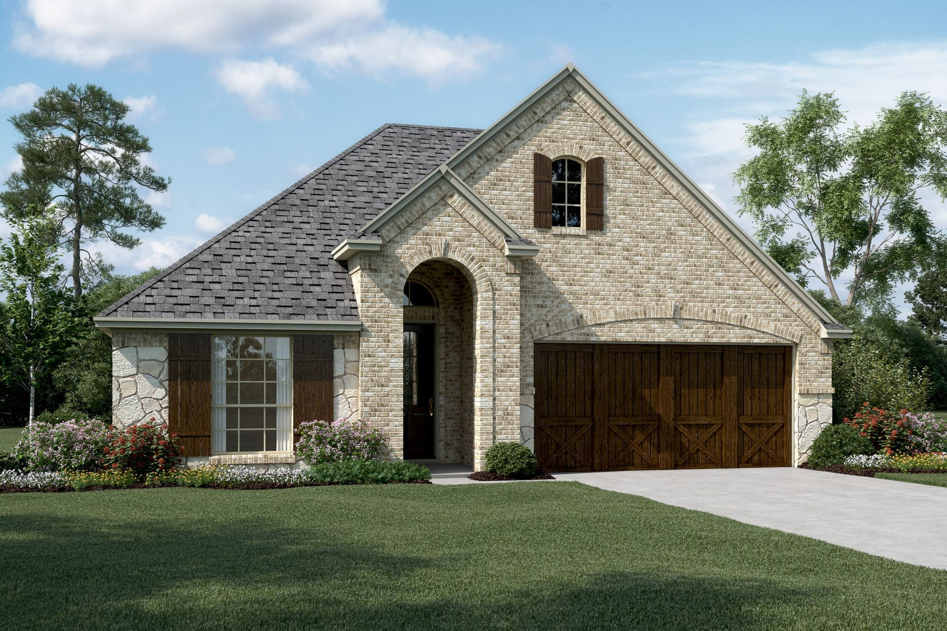 Exterior:Lynnwood IV - C - Optional stone