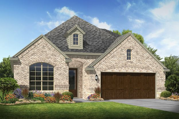 Exterior:Lakeway - B - Shown with stone