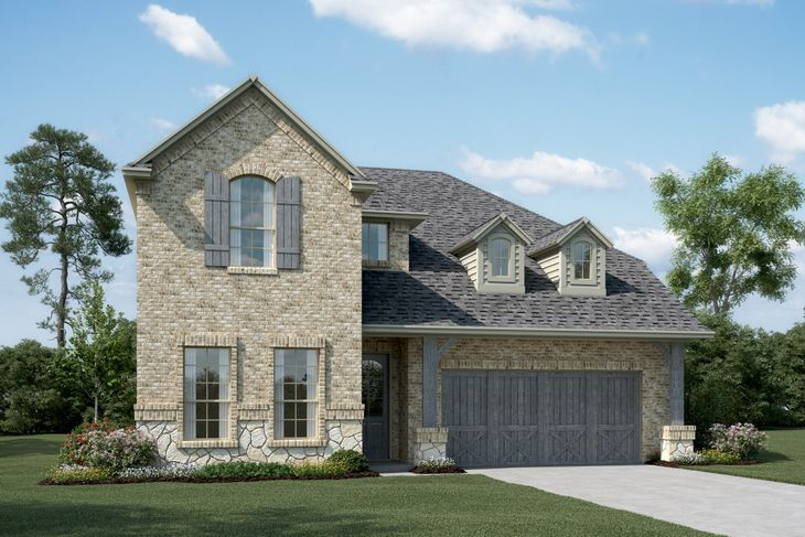 Exterior:Lyoncrest IV - C - Optional stone