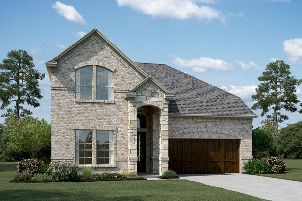 Exterior:Lyoncrest IV - B - Shown with stone