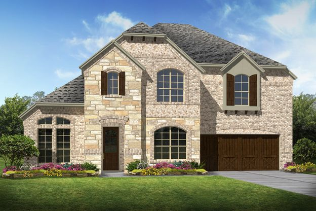 Exterior:Rosemeade II - C - Shown with stone