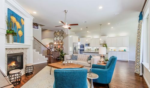 Greatroom-and-Dining-in-Hillcrest II-at-Light Farms Cypress-in-Celina