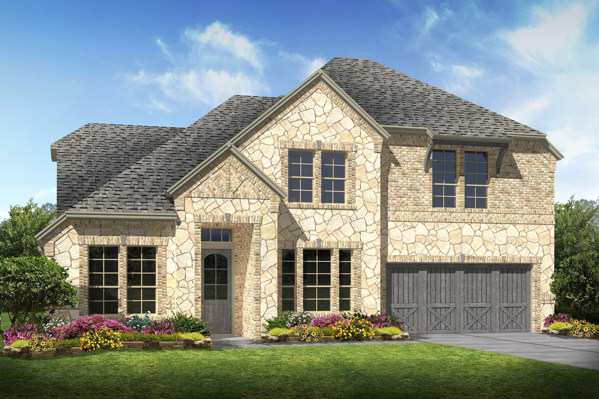 Exterior:Hampshire II - C - Optional stone