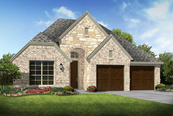 Exterior:Lynnwood II - D - Shown with stone