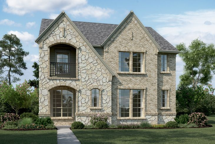 Exterior:Addington II - T - with stone