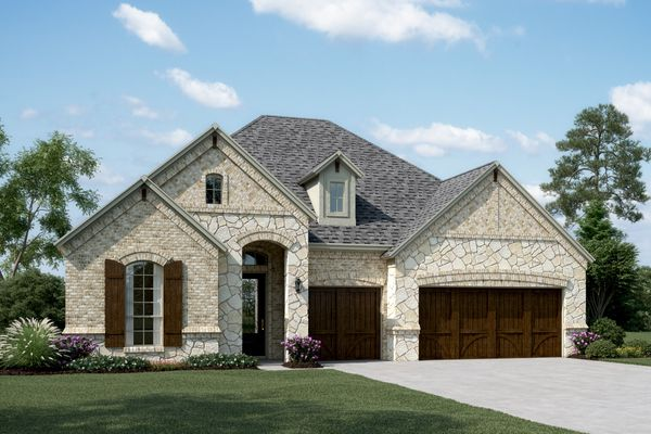 Exterior:Cooperfield III - D - Shown with stone