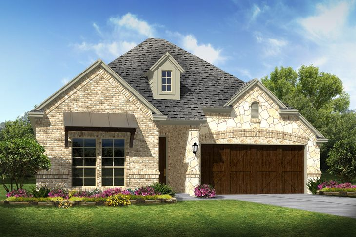 Exterior:Laredo III - D - Opt stone and metal roof